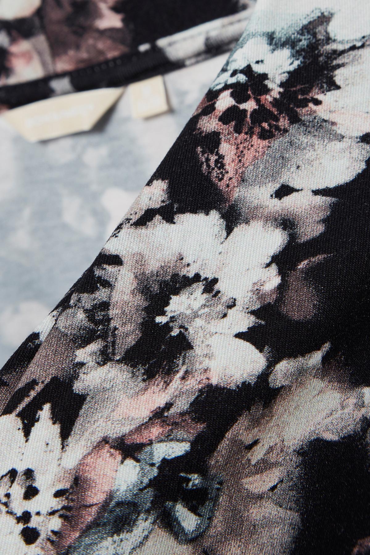 Svart/rosa Långärmad blus från Bon'A Parte – Köp Svart/rosa Långärmad blus från stl. S-3XL här