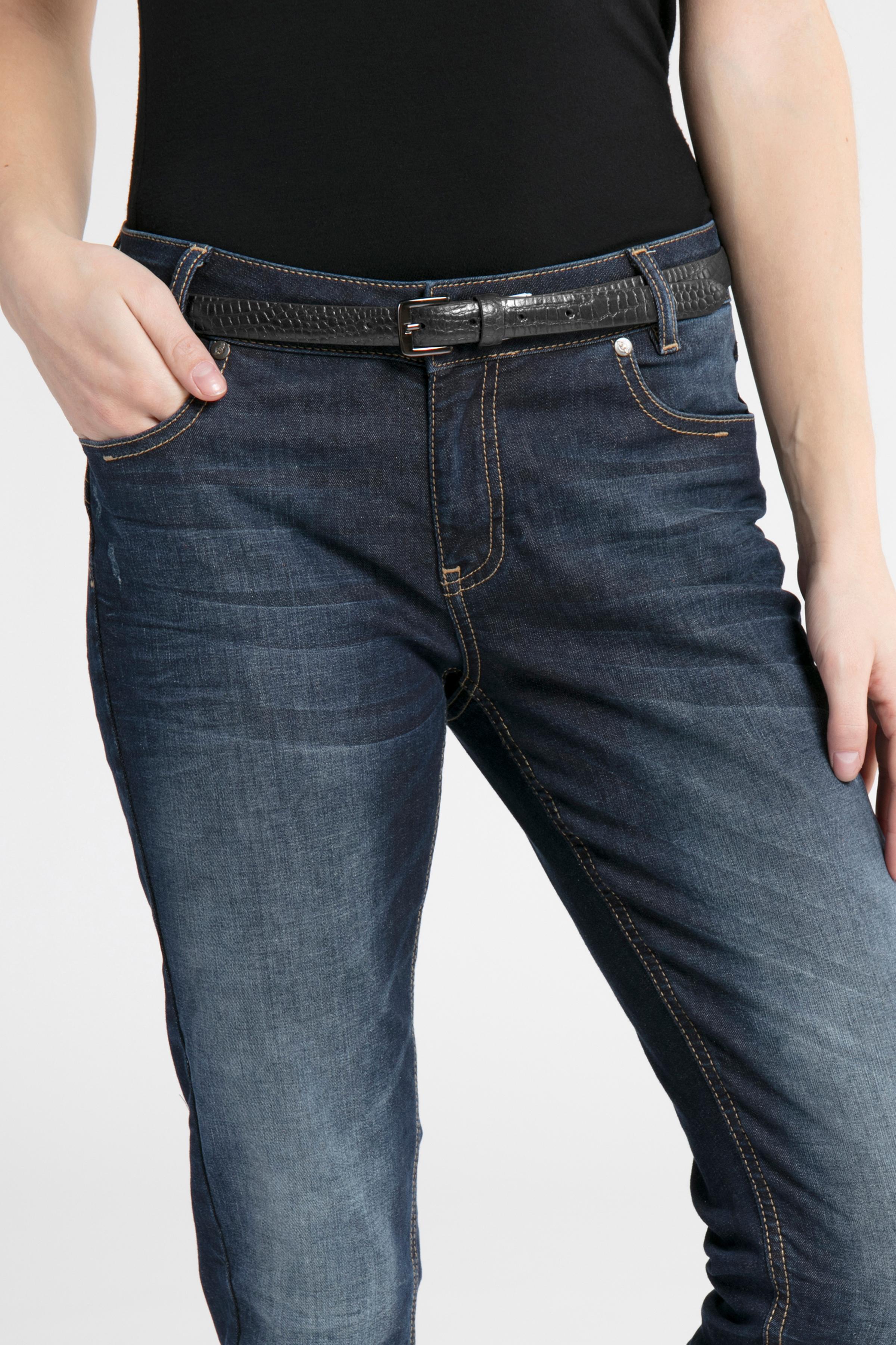 Svart Skinnbälte från Ichi - accessories – Köp Svart Skinnbälte från stl. 85-95 här