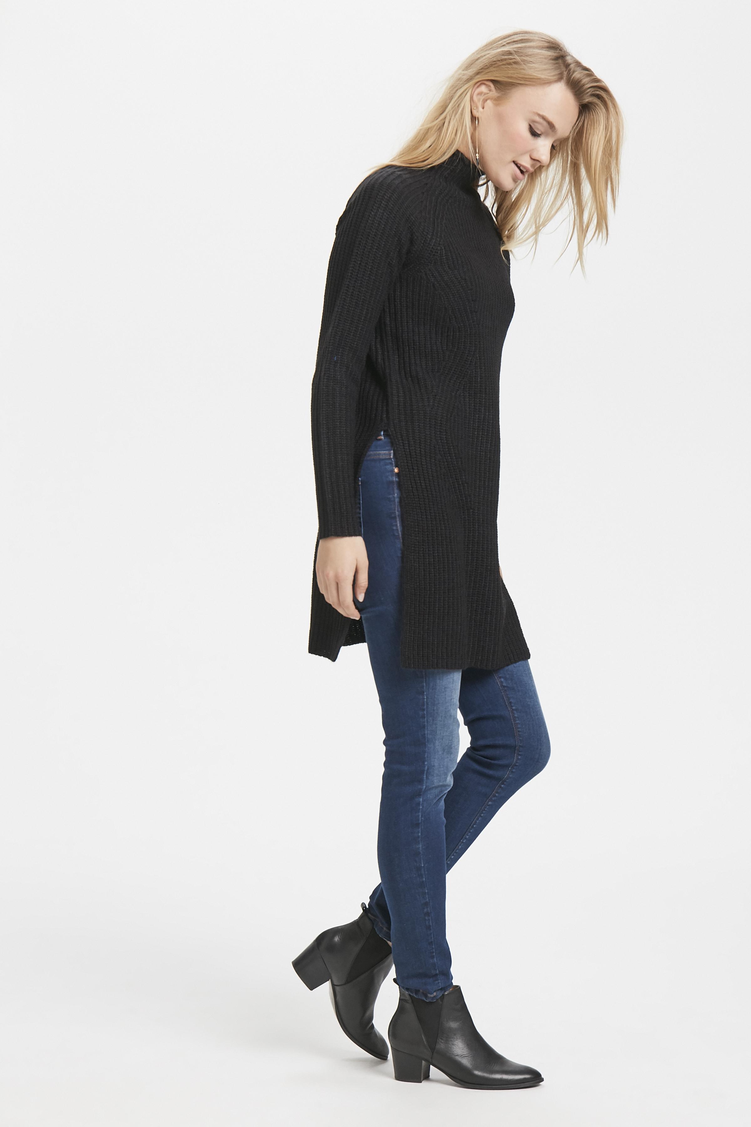Svart Stickad tunika från b.young – Köp Svart Stickad tunika från stl. XS-XXL här