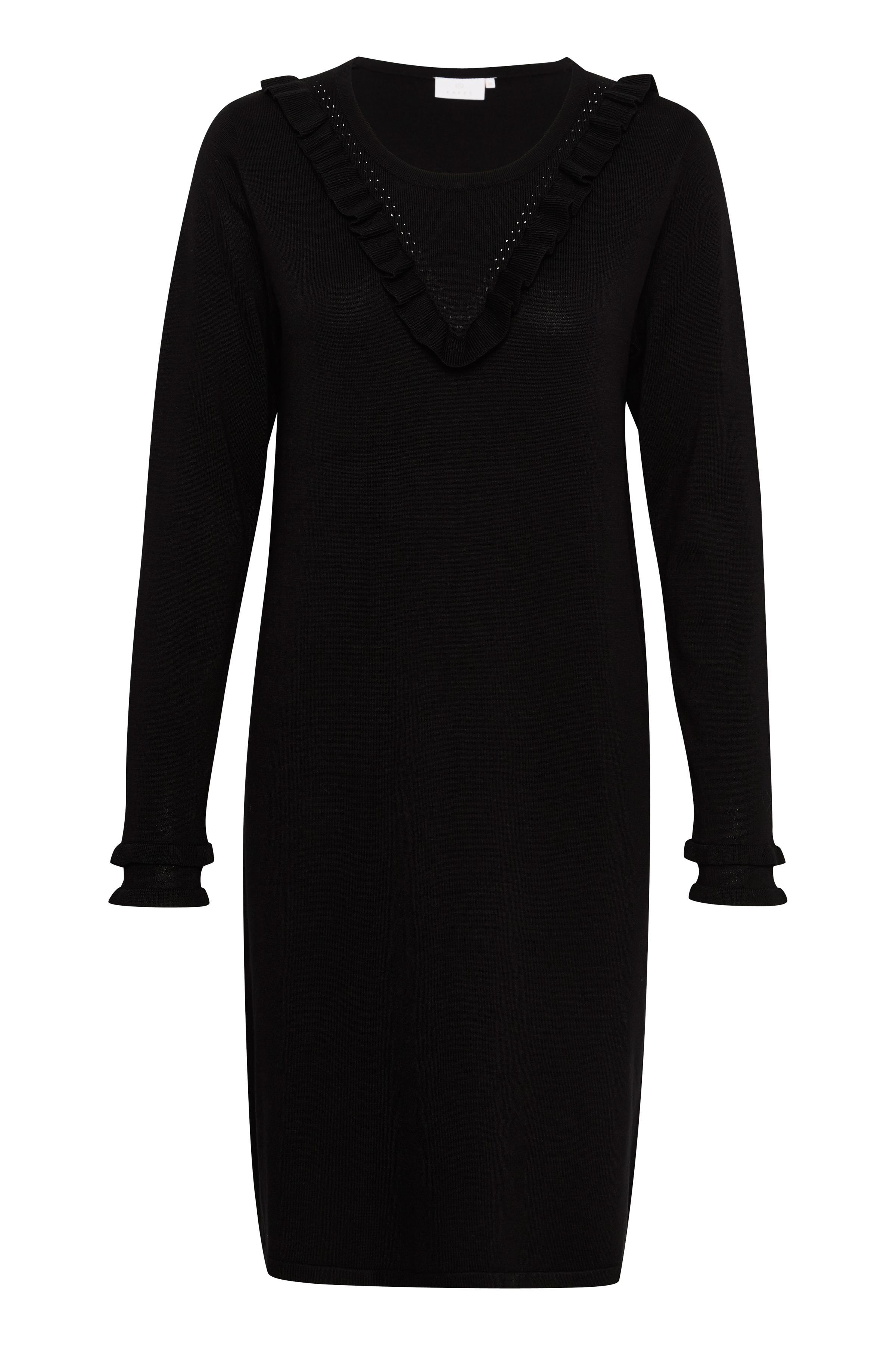 Svart Strickad klänning från Kaffe – Köp Svart Strickad klänning från stl. L-XXL här