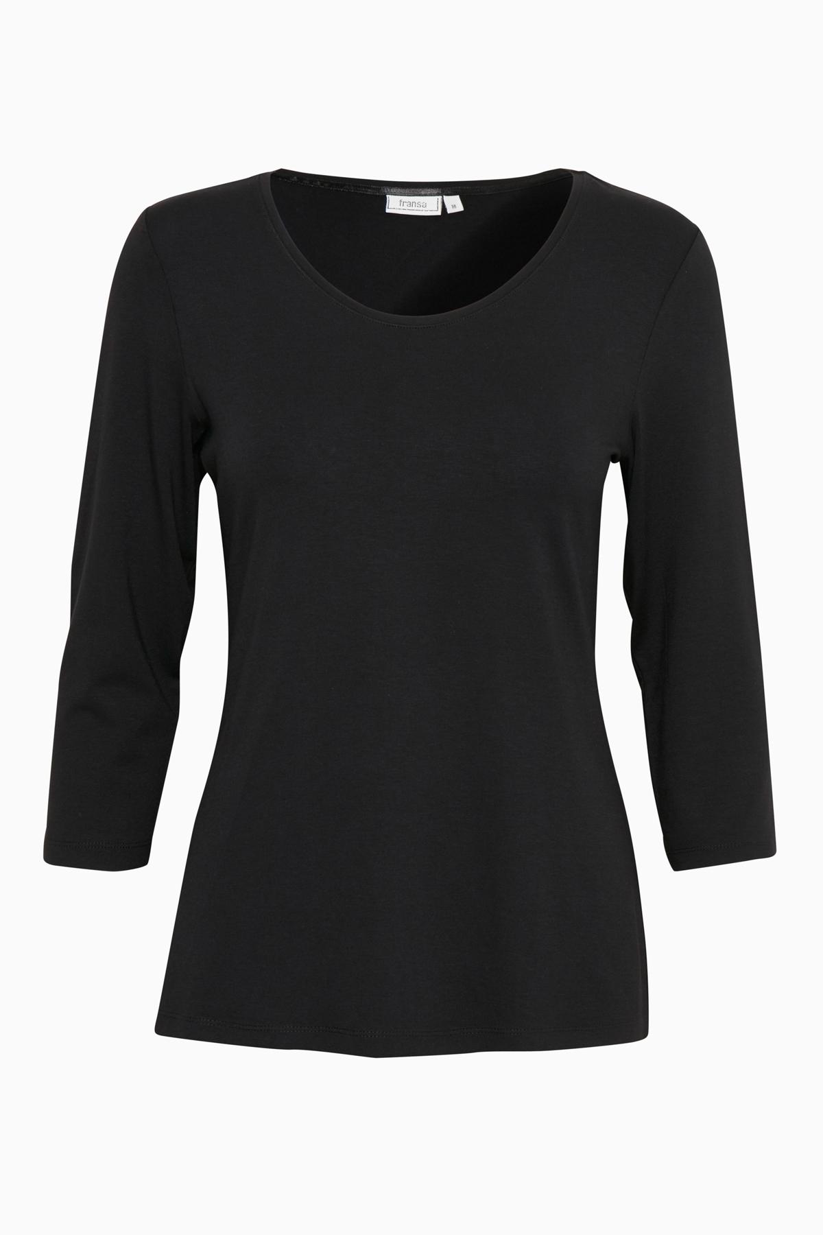 Svart T-shirt från Fransa – Köp Svart T-shirt från stl. XS-XXL här
