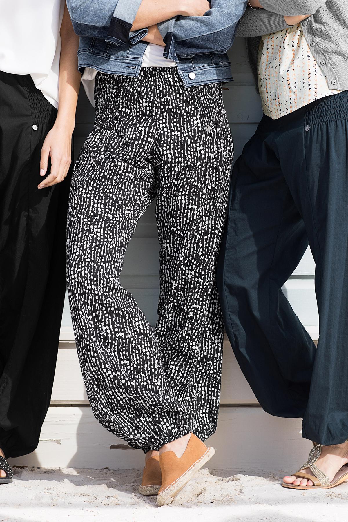 Svart/vit Byxor från Pulz Jeans – Köp Svart/vit Byxor från stl. XS-XXL här