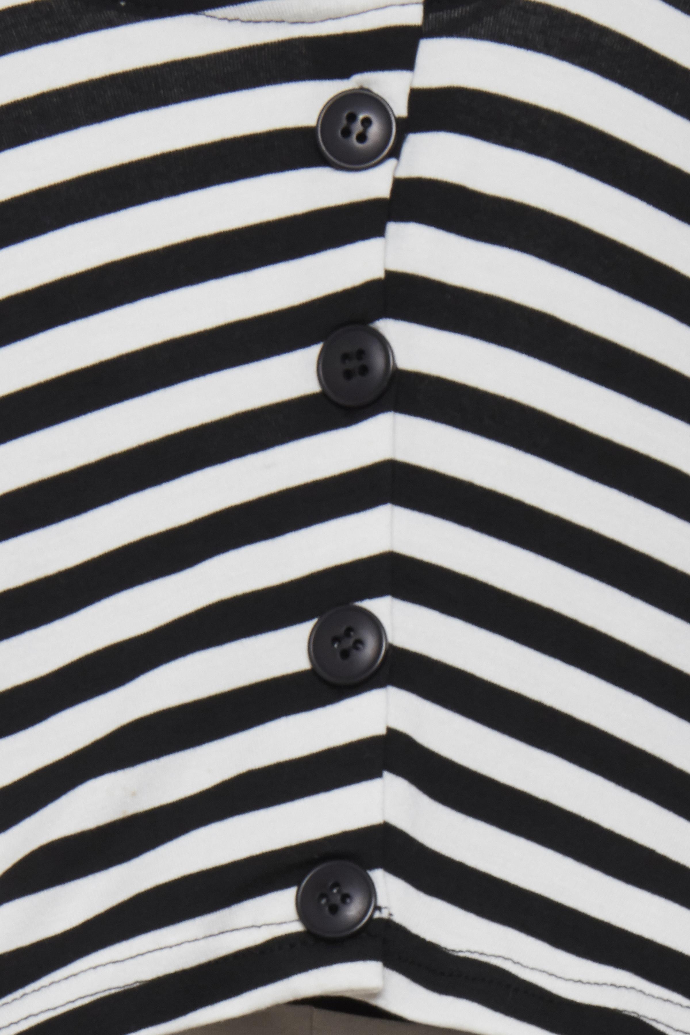 Svart/vit Kortärmad blus  från b.young – Köp Svart/vit Kortärmad blus  från stl. XS-XXL här