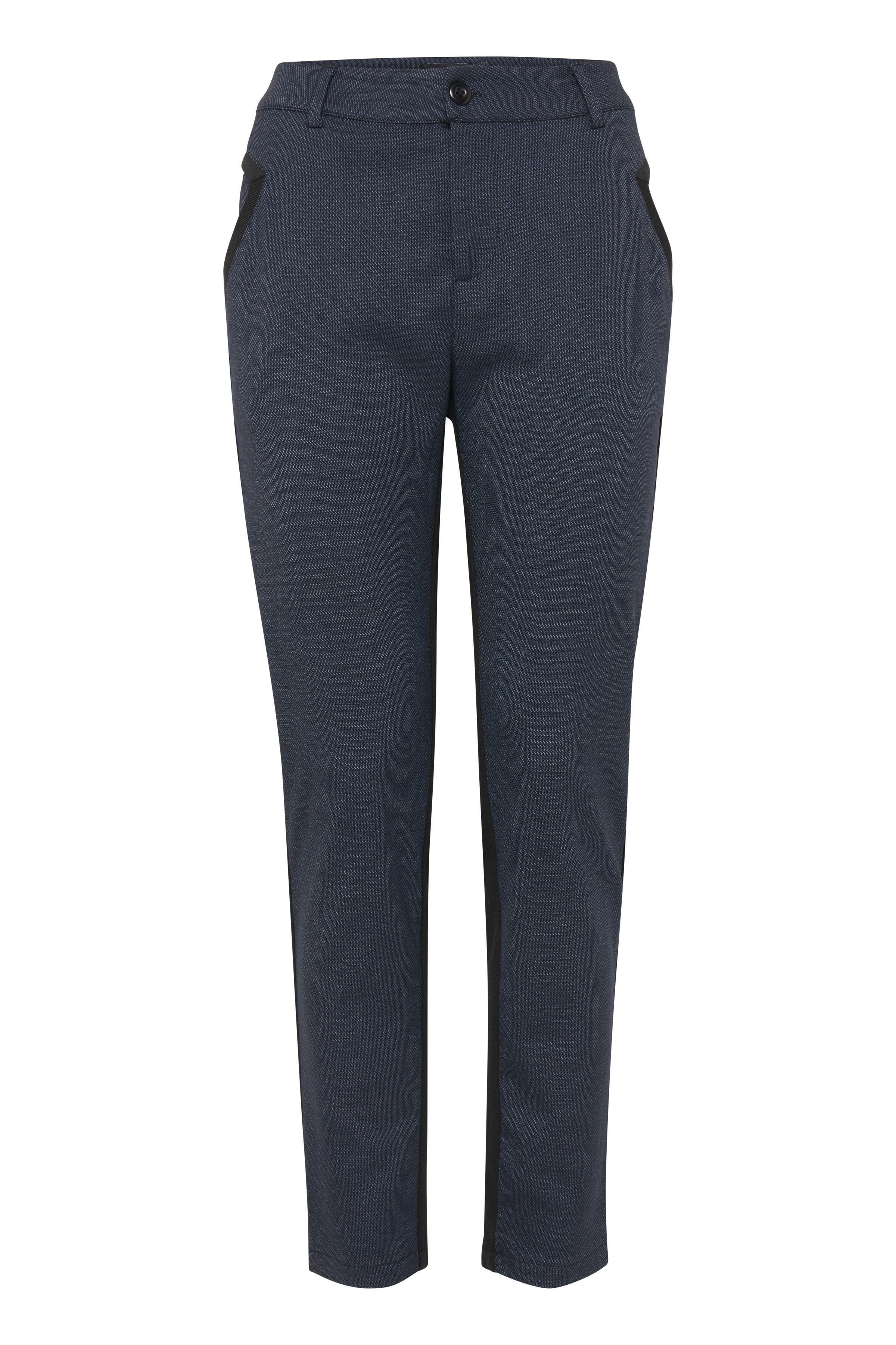 Svartmelerad Casual byxor från Pulz Jeans – Köp Svartmelerad Casual byxor från stl. 32-46 här