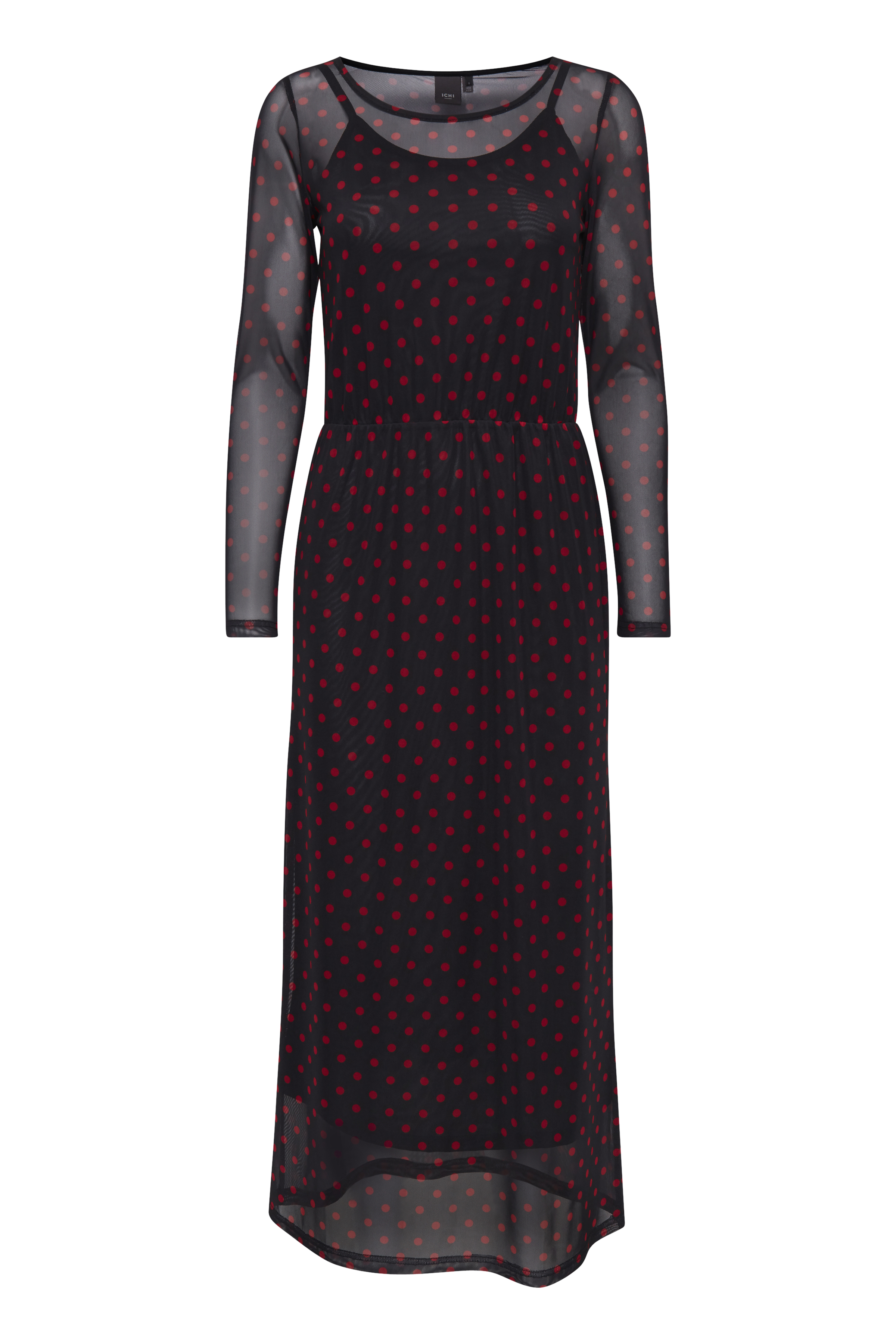 Ichi Dame Jersey jurk - Tapioca
