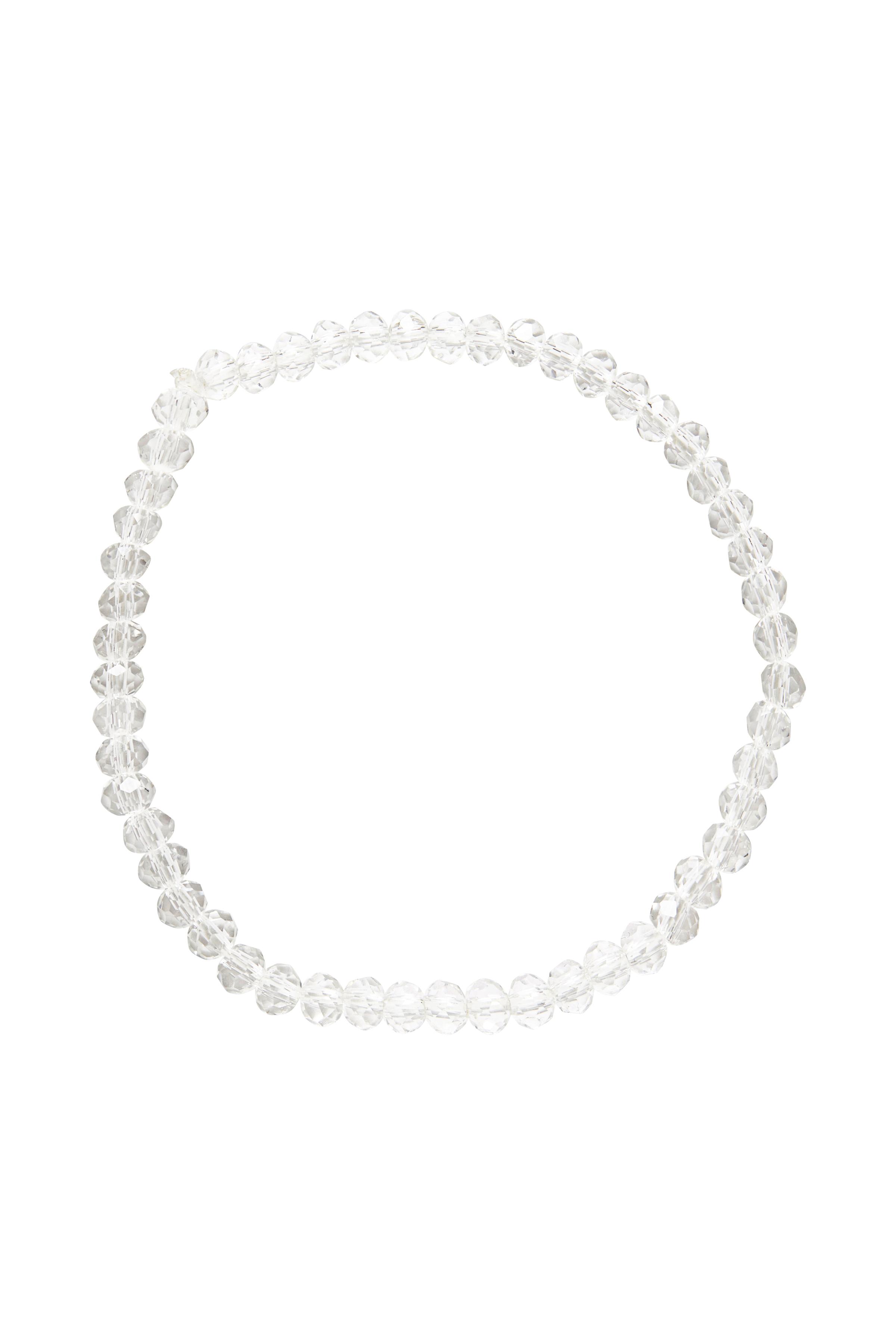 Fransa Dame Armbånd med elastik og perler. Fra Fransa. Brug det sammen med dine enkle armbånd. - Transparent