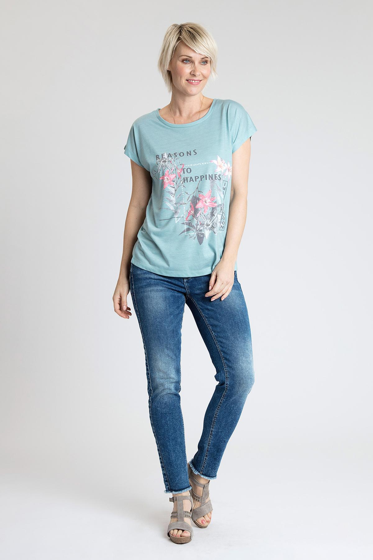 Turkis Kortærmet T-shirt fra Bon'A Parte – Køb Turkis Kortærmet T-shirt fra str. S-2XL her