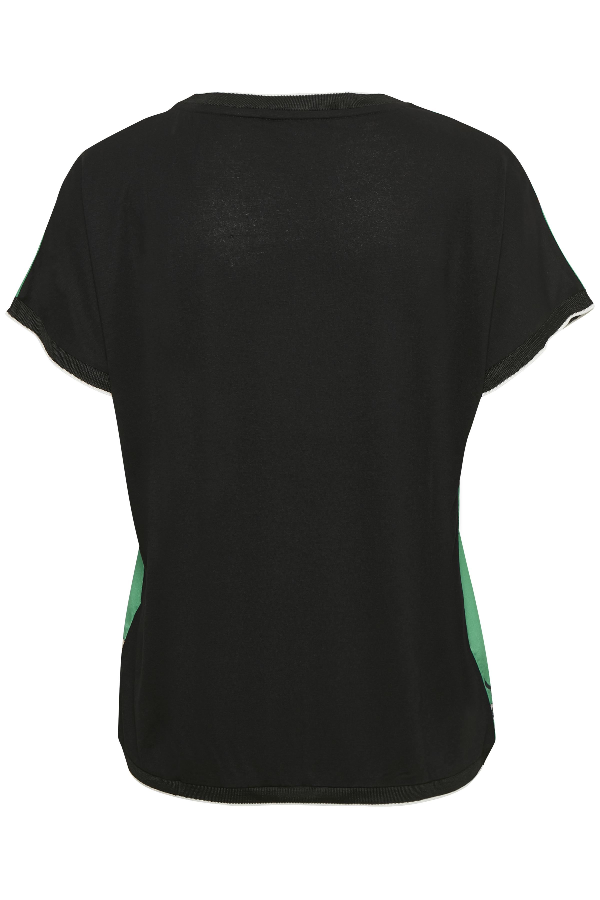 Turkisgrøn/sort Kortærmet T-shirt fra b.young – Køb Turkisgrøn/sort Kortærmet T-shirt fra str. XS-XXL her
