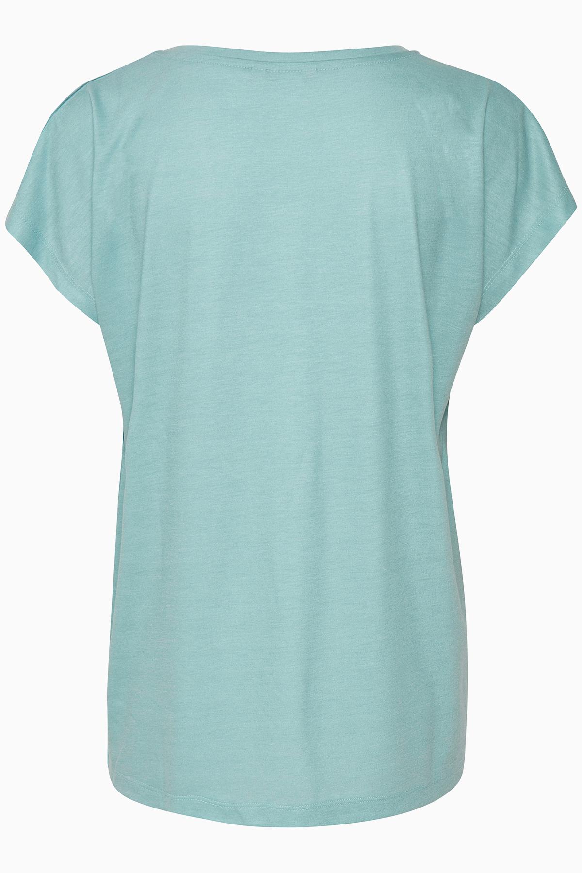 Turkos Kortärmad T-shirt från Bon'A Parte – Köp Turkos Kortärmad T-shirt från stl. S-2XL här