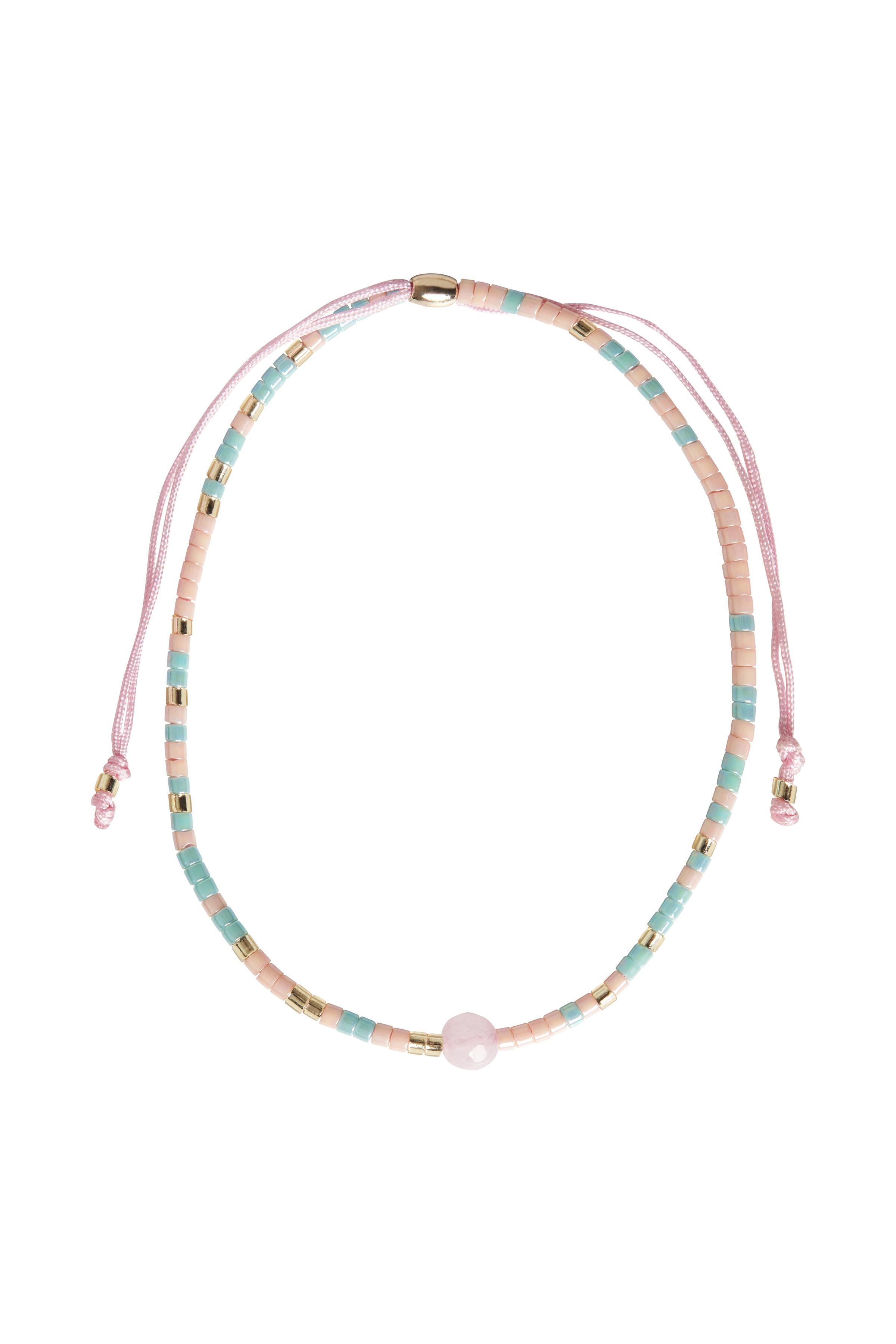 Fransa Dame Armband - Turquoise/roze