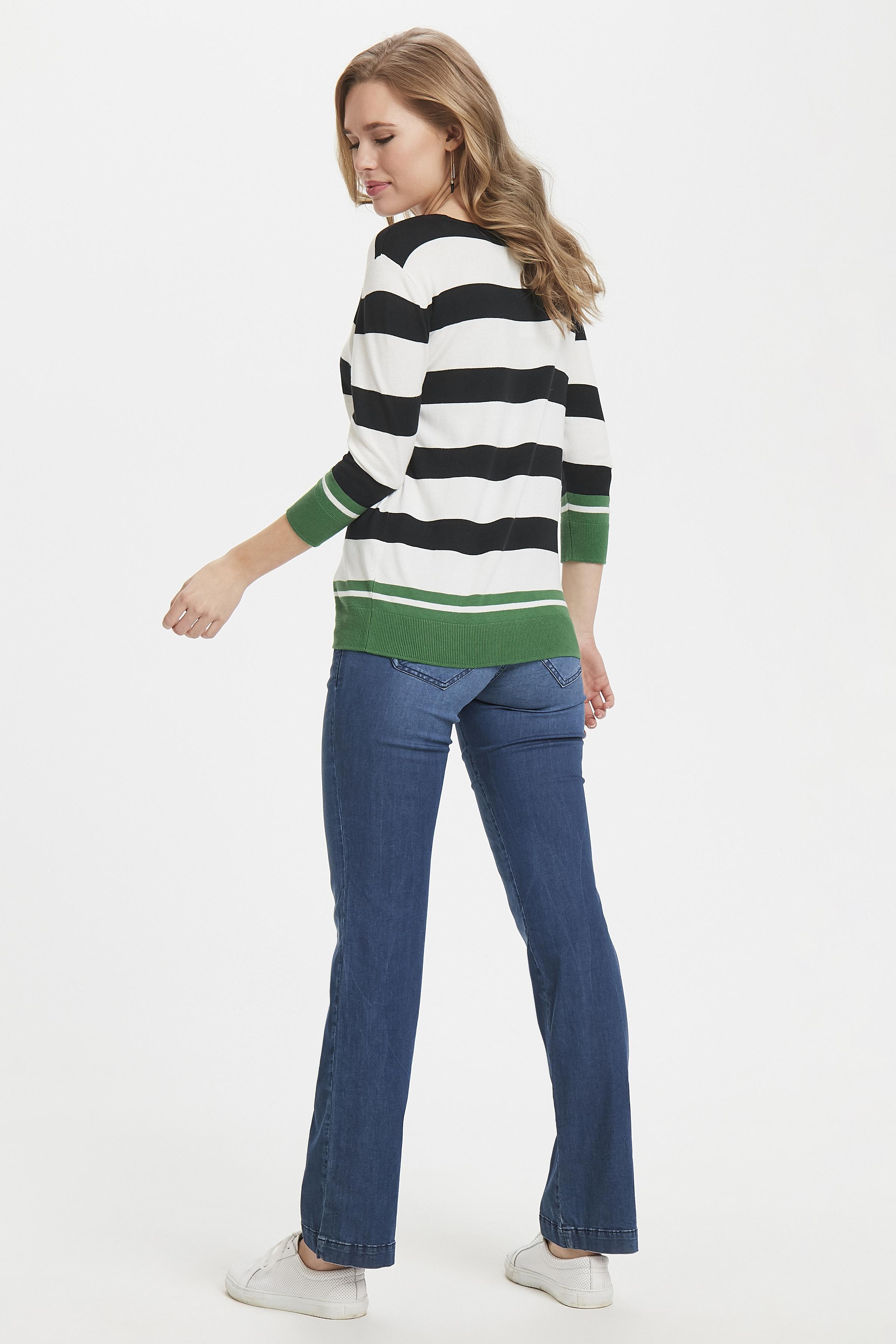 Vit/grön Stickad tröja från Fransa – Köp Vit/grön Stickad tröja från stl. XS-XXL här