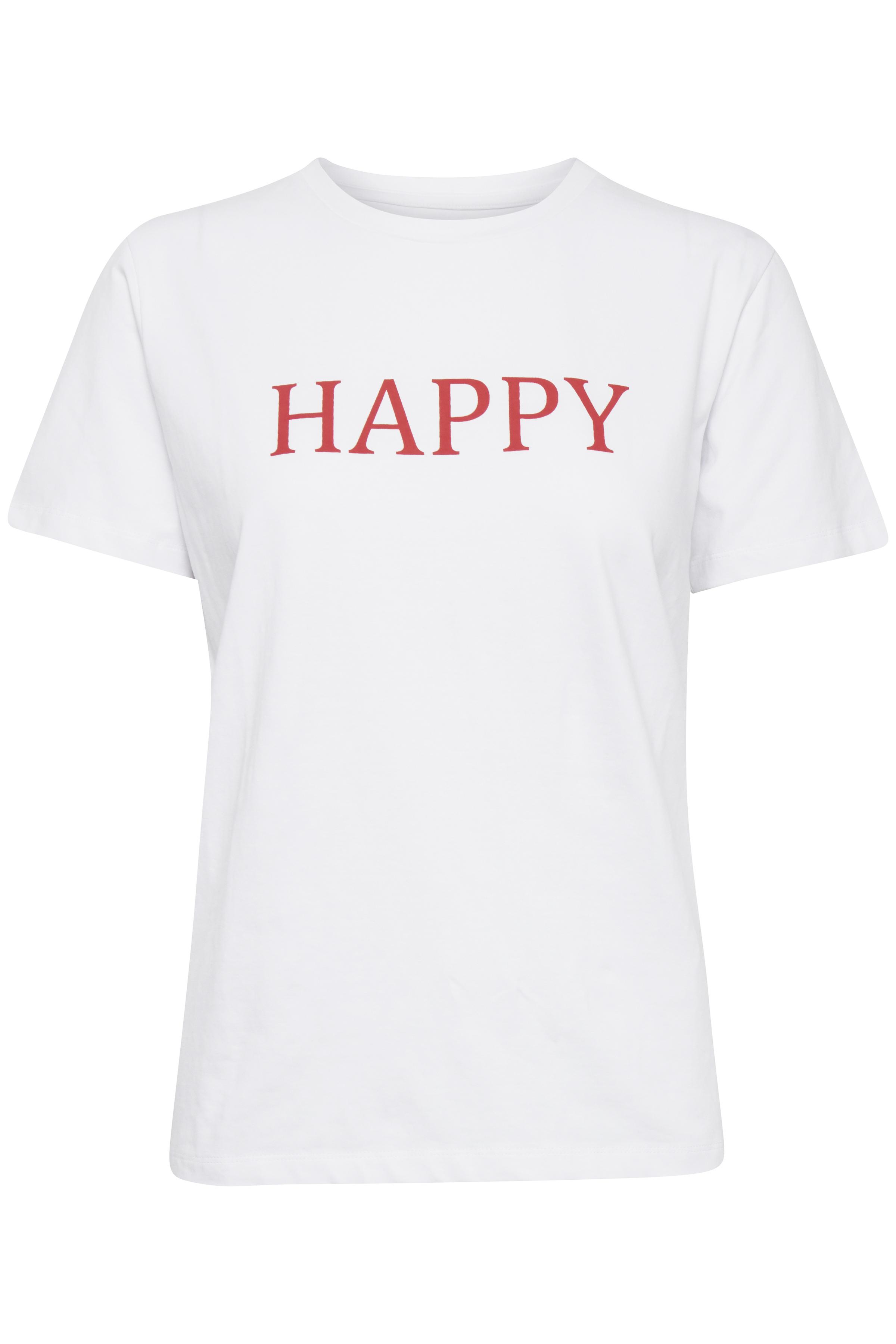 Vit Kortärmad T-shirt från b.young – Köp Vit Kortärmad T-shirt från stl. XS-XXL här