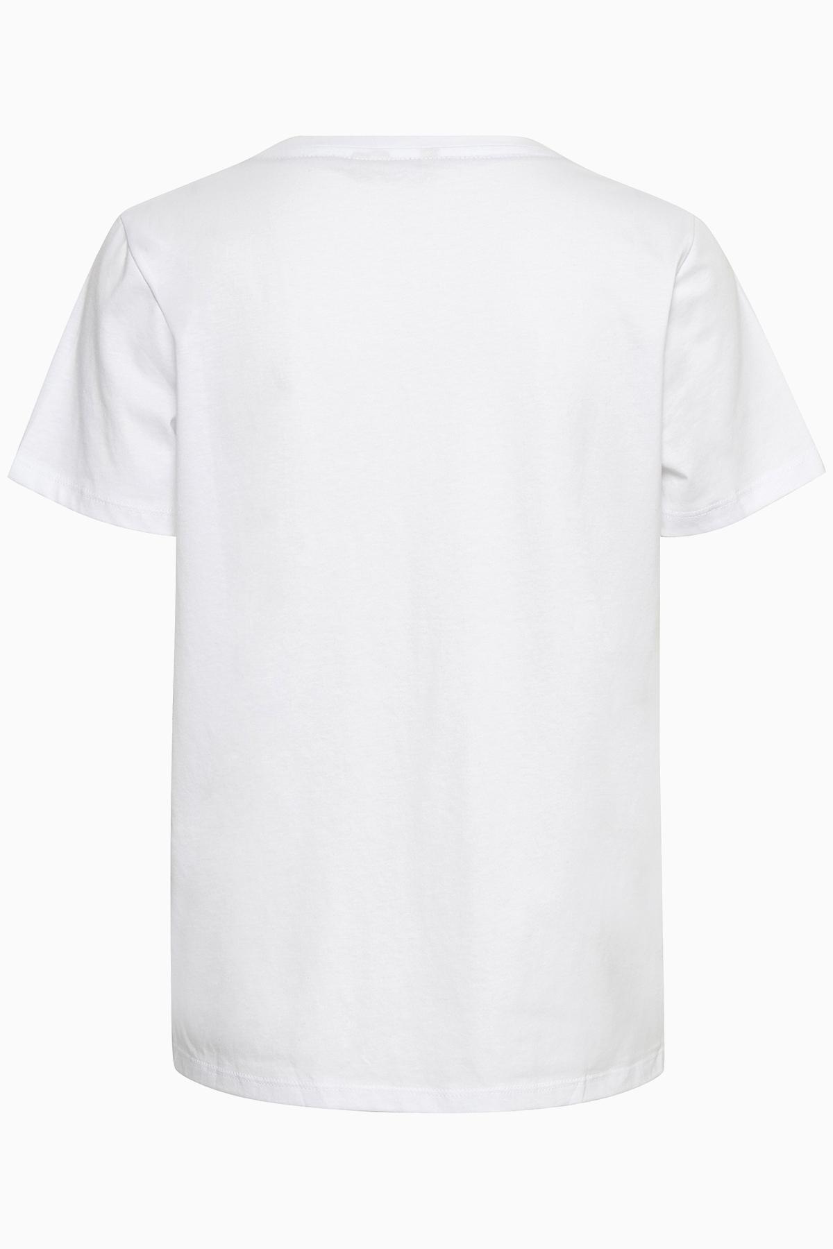 Vit Kortärmad T-shirt från Bon'A Parte – Köp Vit Kortärmad T-shirt från stl. S-2XL här