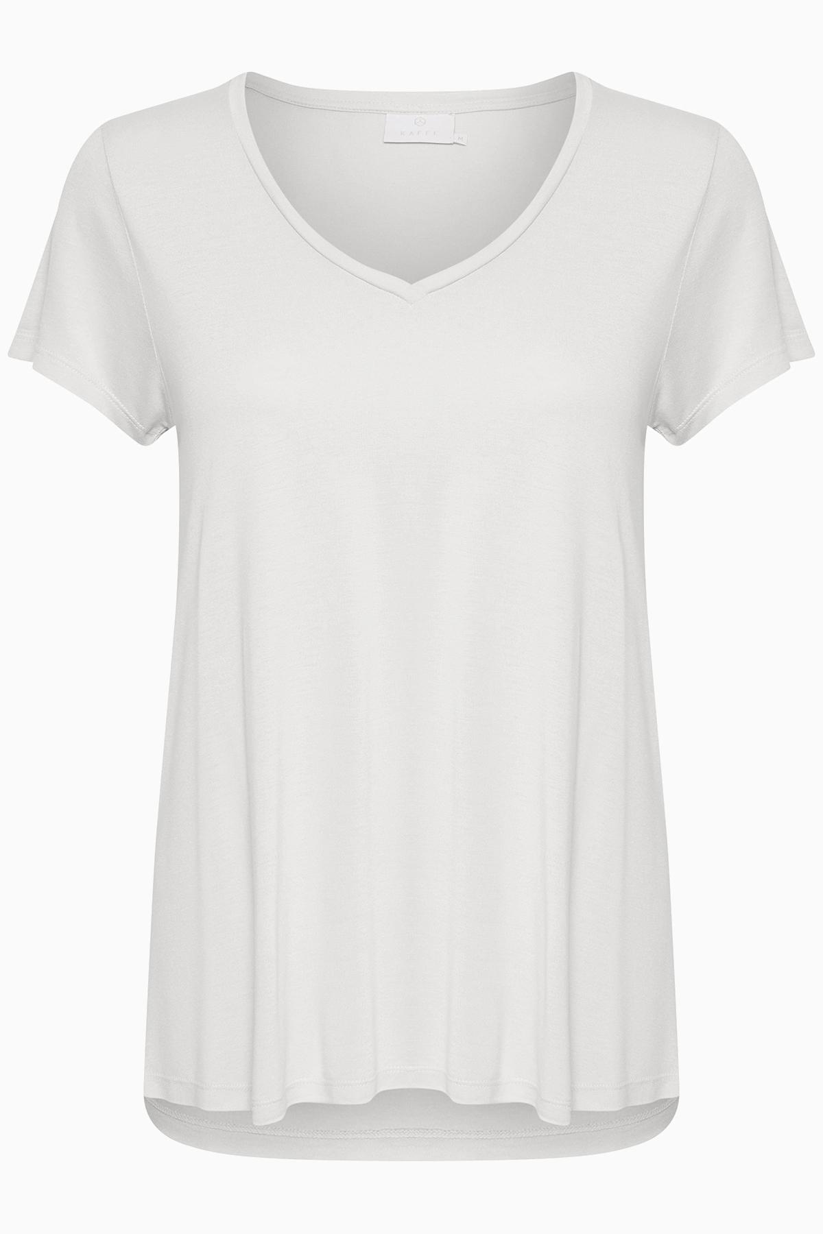 Vit Kortärmad T-shirt från Kaffe – Köp Vit Kortärmad T-shirt från stl. XS-XXL här