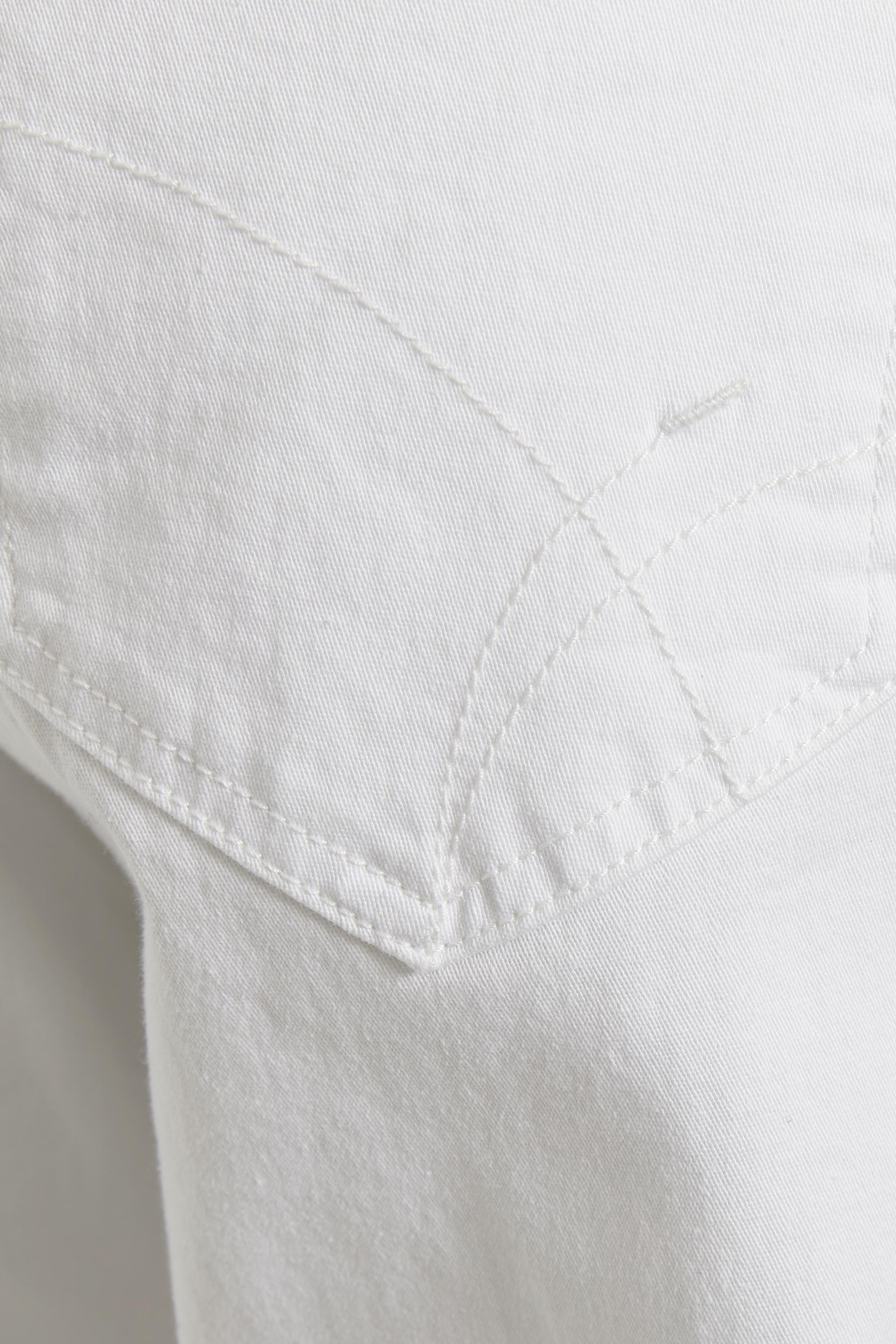 Weiß Denim-Knöchelhose von Bon'A Parte – Shoppen Sie Weiß Denim-Knöchelhose ab Gr. 36-48 hier