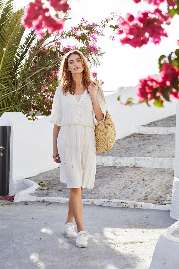 Weiß/gold Kleid von b.young - Shoppen Sie Weiß/gold Kleid ...