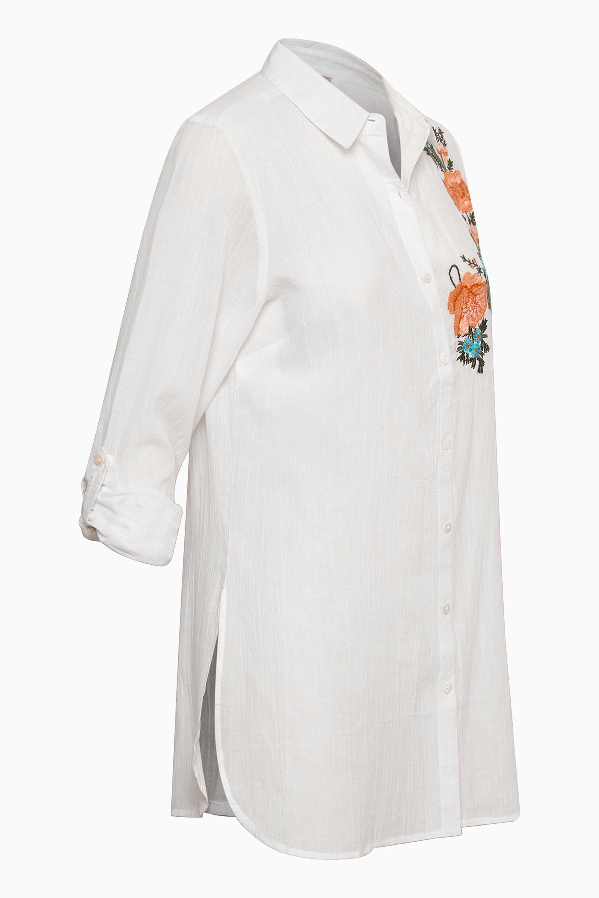 Weiß Langarm - Hemd von Bon'A Parte – Shoppen Sie Weiß Langarm - Hemd ab Gr. S-2XL hier