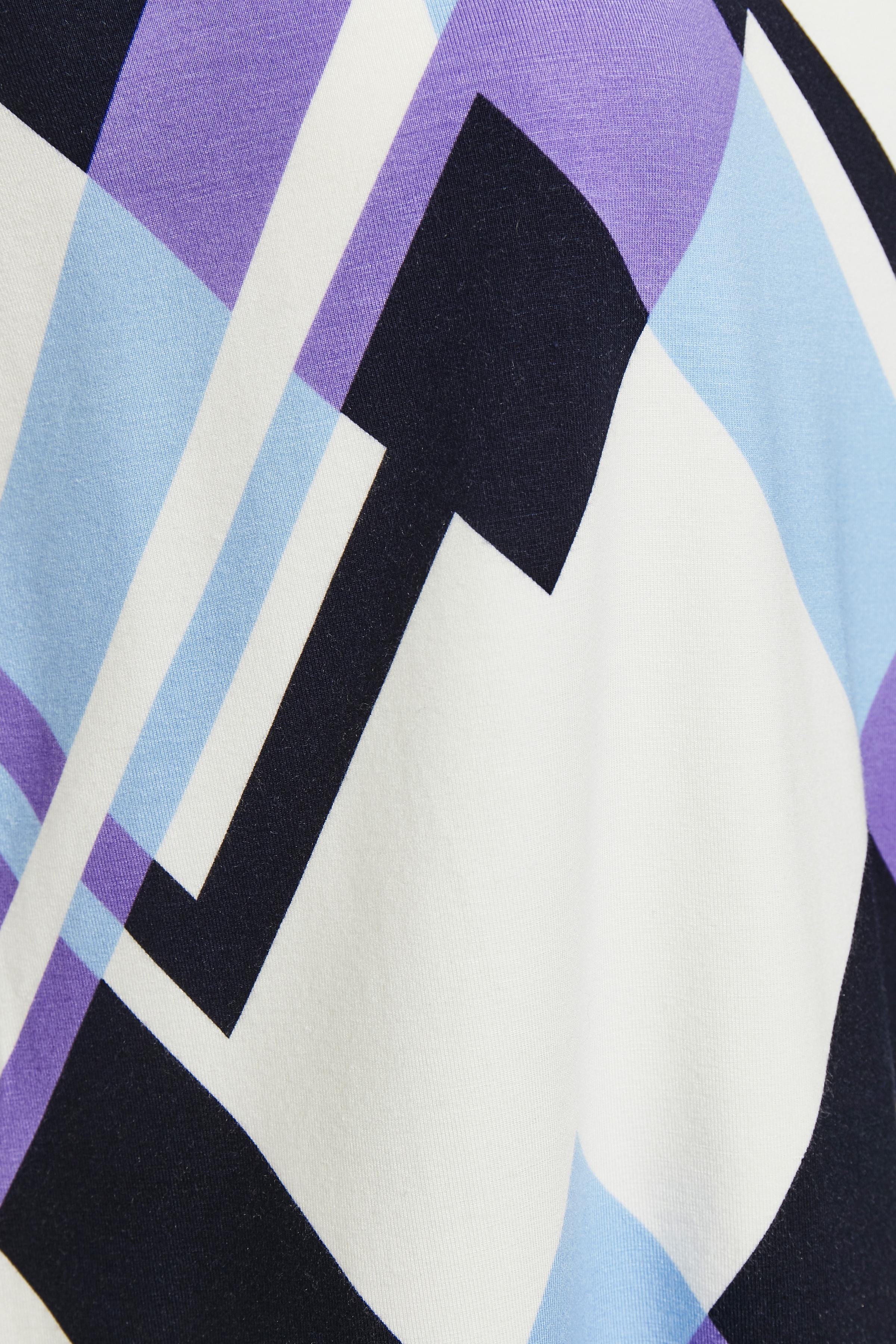 Weiß/lila Kurzarm-Shirt von Fransa – Shoppen Sie Weiß/lila Kurzarm-Shirt ab Gr. XS-XXL hier