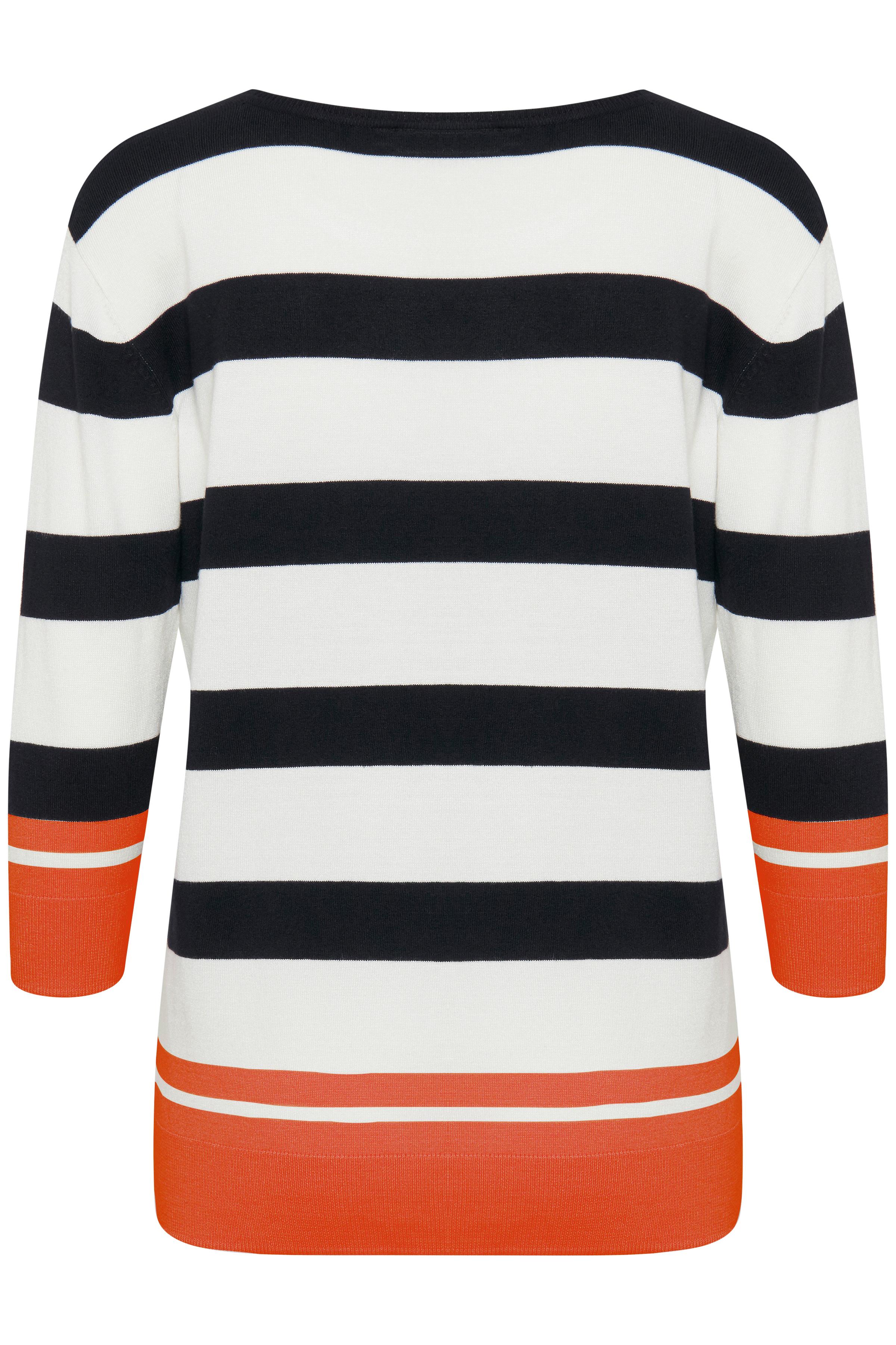 Weiß/orange Strickpullover von Fransa – Shoppen Sie Weiß/orange Strickpullover ab Gr. XS-XXL hier
