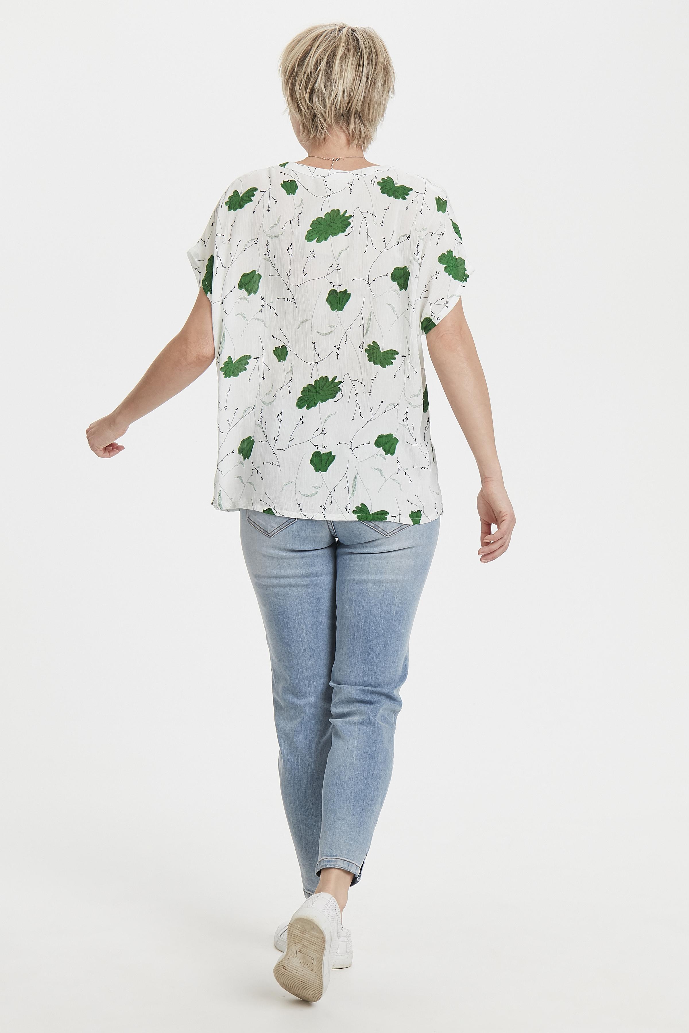 Weiss/grün Kurzarm-Bluse von Kaffe – Shoppen SieWeiss/grün Kurzarm-Bluse ab Gr. 34-46 hier