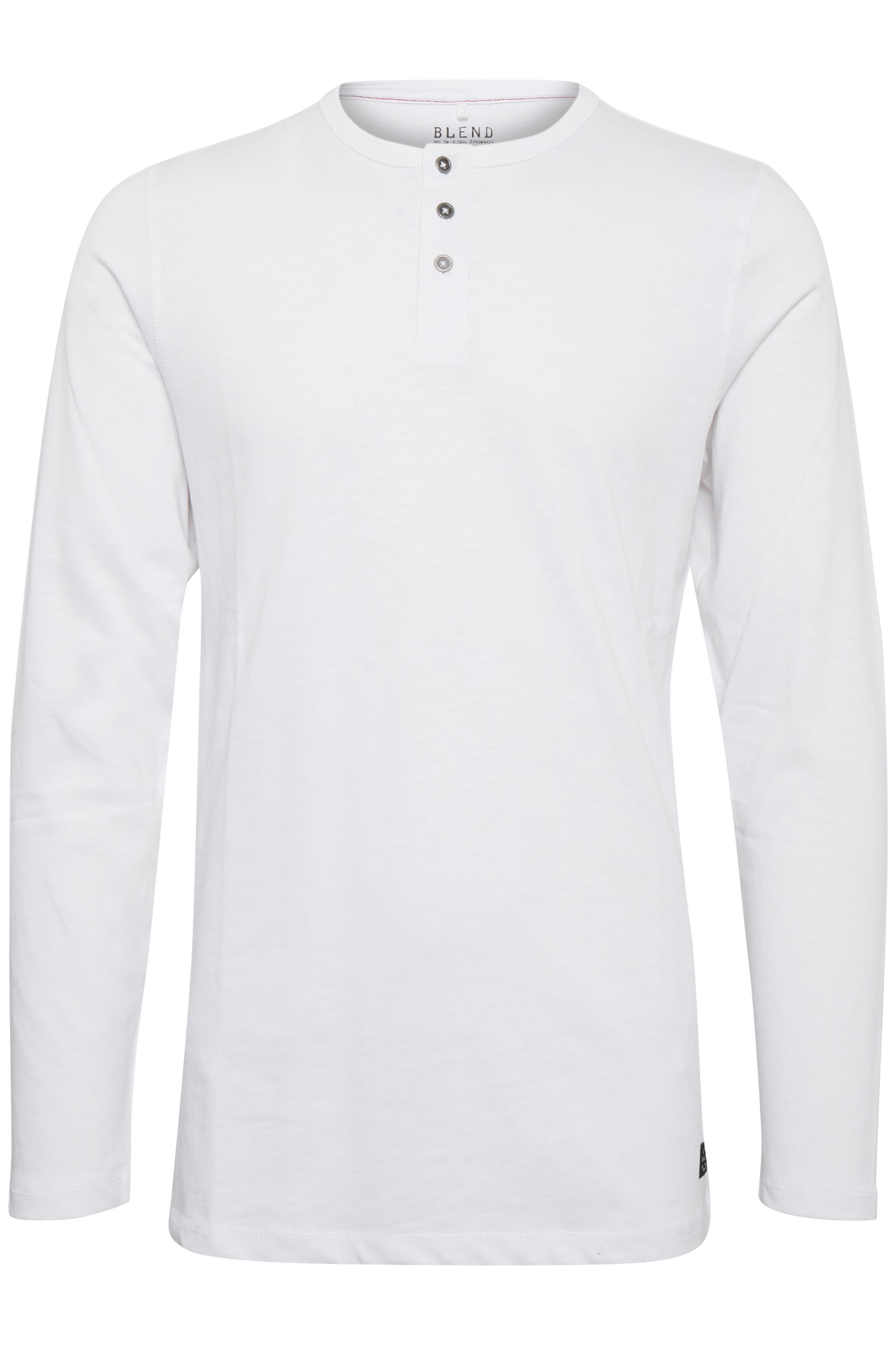 Image of Blend He Herre Langærmet T-shirt - White