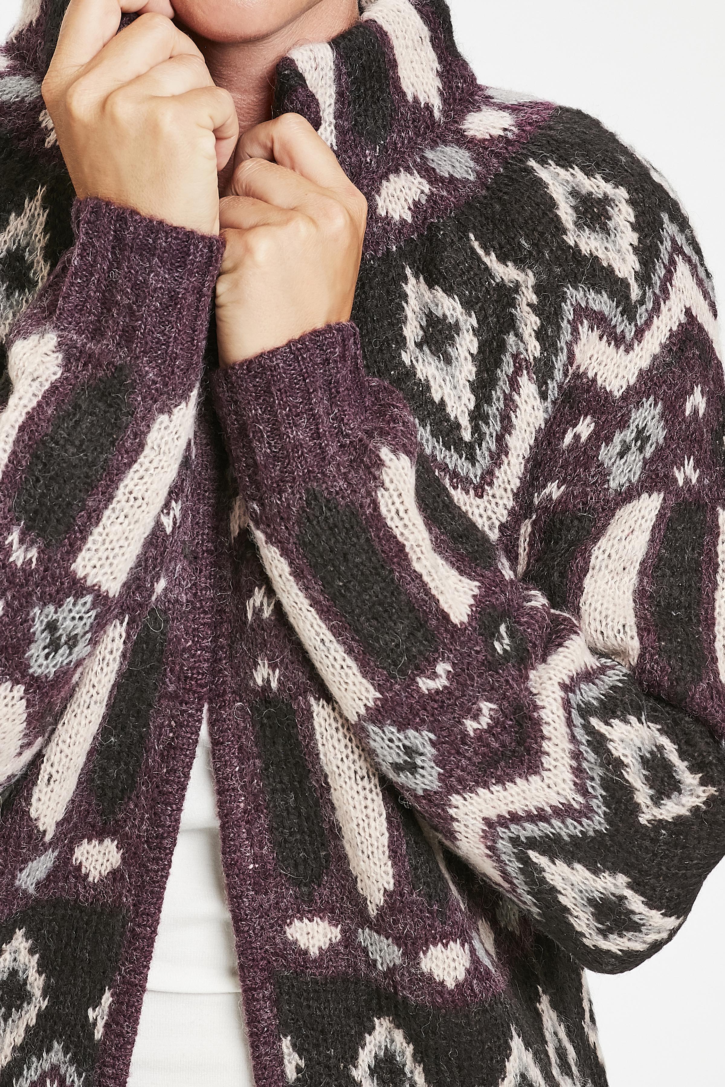 Winter Bloom Melange Stickad cardigan från Culture – Köp Winter Bloom Melange Stickad cardigan från stl. XS-XXL här