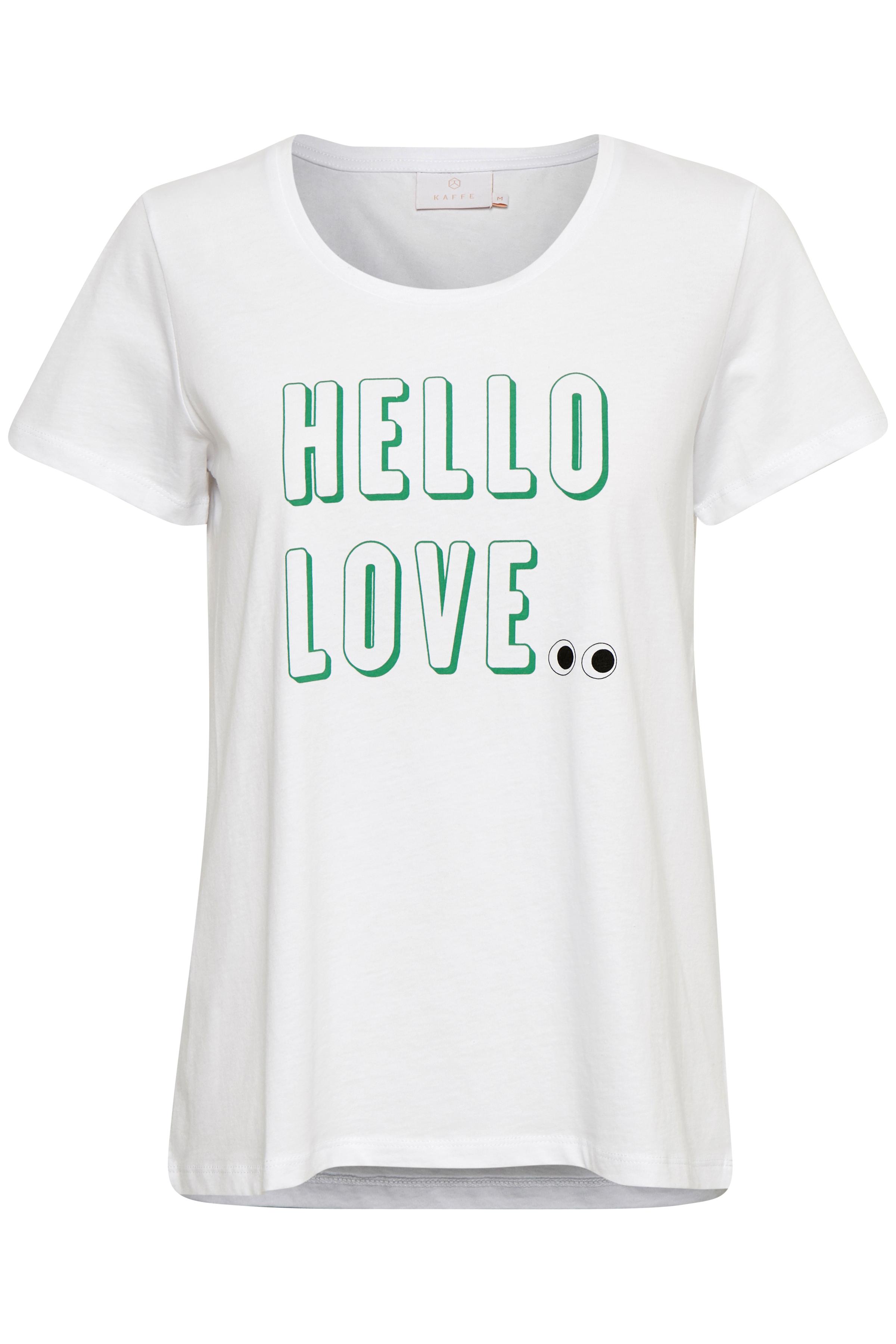 Wit T-shirt korte mouw van Kaffe – Door Wit T-shirt korte mouw van maat. XS-XXL hier