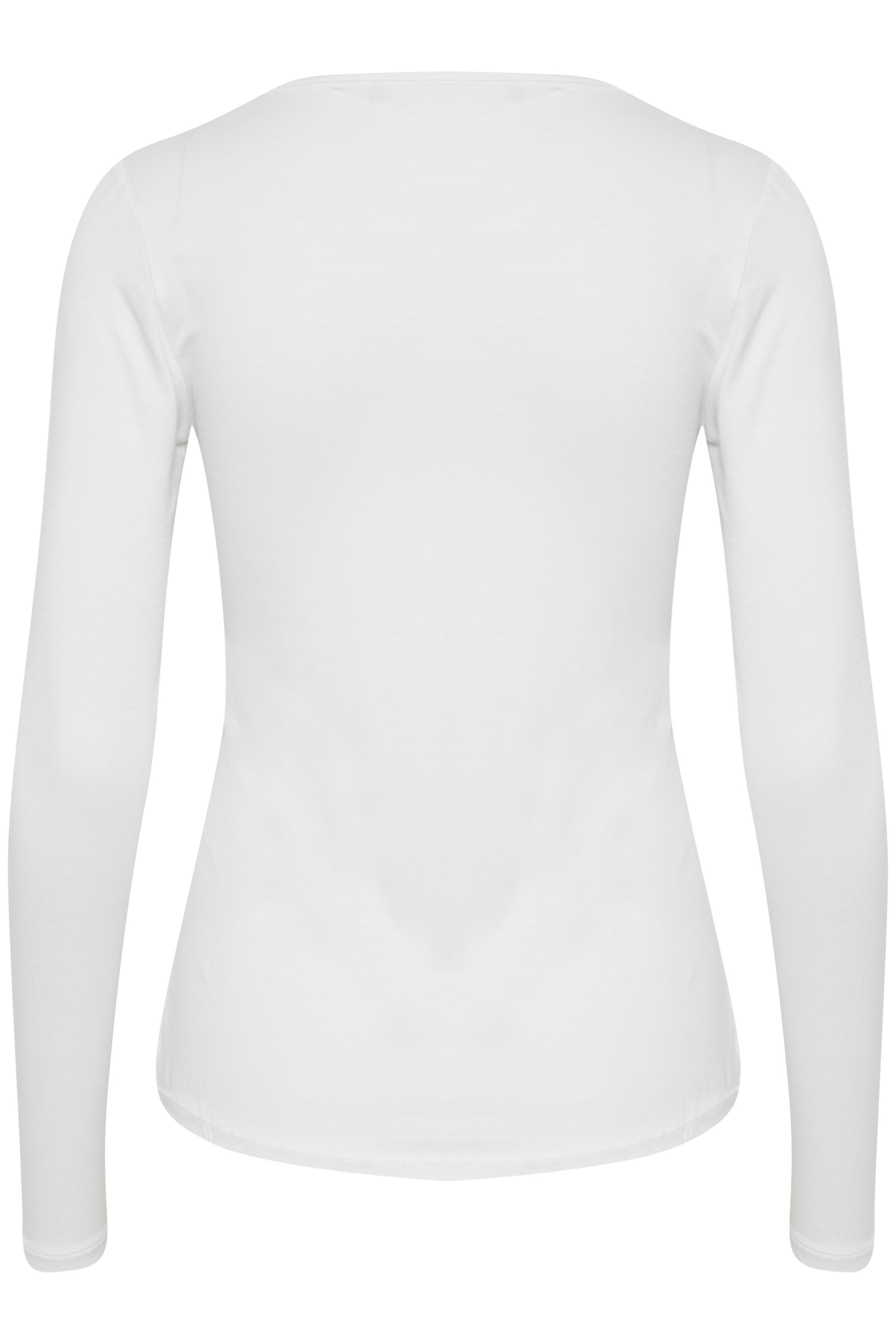 Wit T-shirt lange mouw van Fransa – Door Wit T-shirt lange mouw van maat. XS-XXL hier