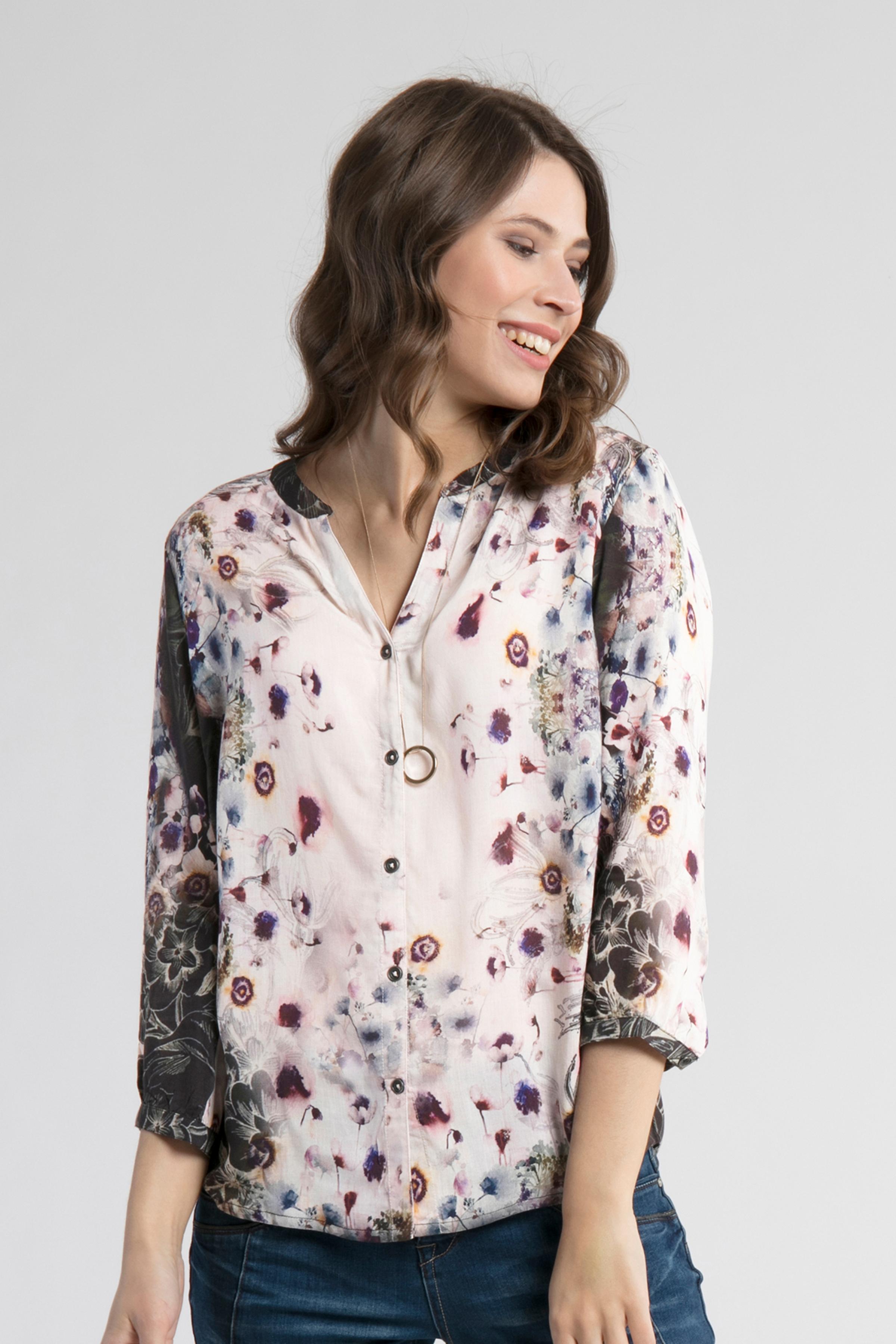Wollweiß/aubergine Langarm-Hemd  von Cream – Shoppen Sie Wollweiß/aubergine Langarm-Hemd  ab Gr. 34-46 hier