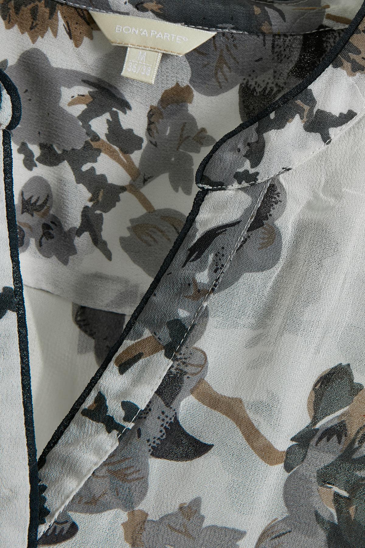 Wollweiß/grau Tunika von Bon'A Parte – Shoppen Sie Wollweiß/grau Tunika ab Gr. S-3XL hier