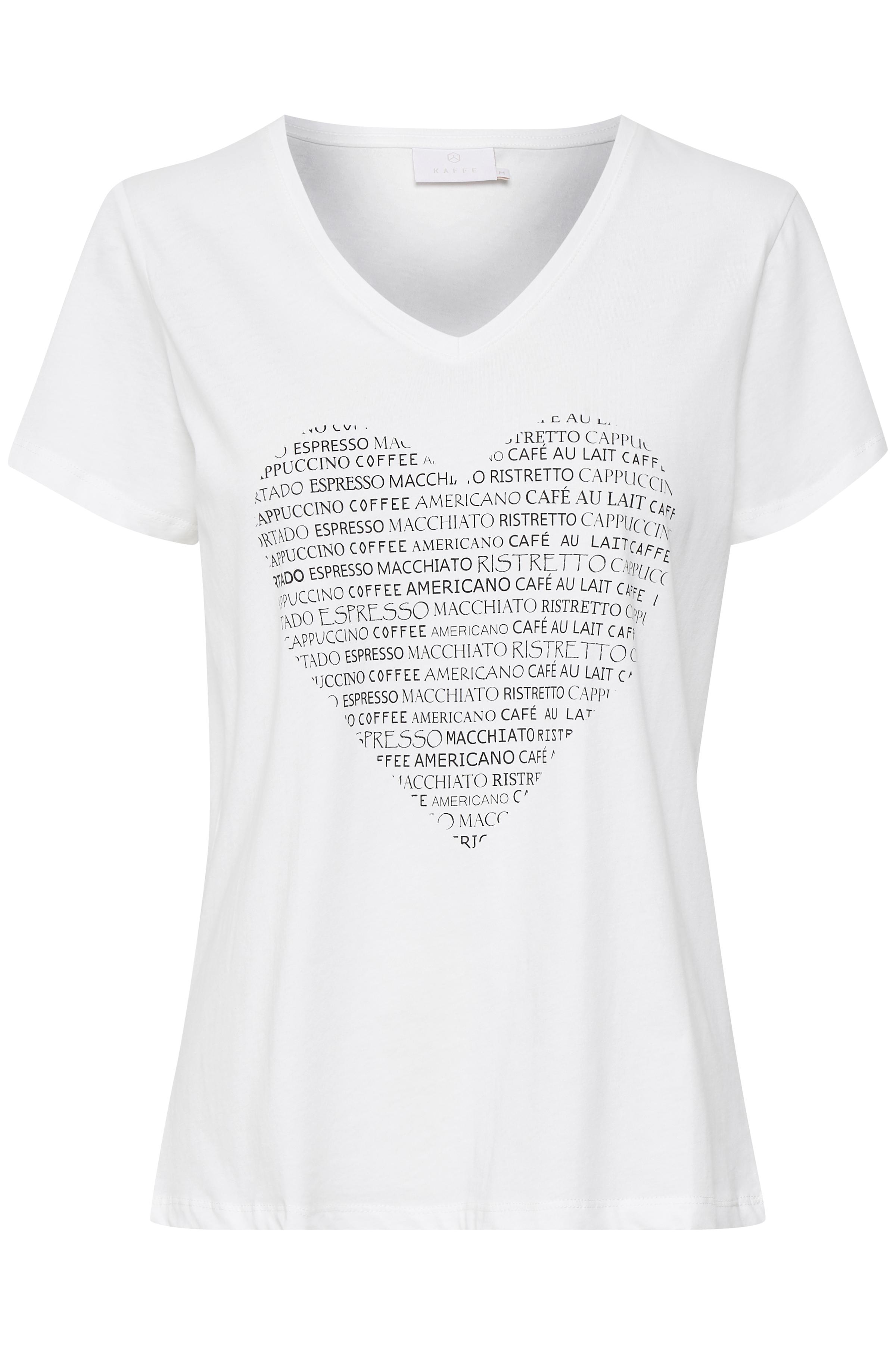 Wollweiß Kurzarm T-Shirt von Kaffe – Shoppen Sie Wollweiß Kurzarm T-Shirt ab Gr. XS-XXL hier