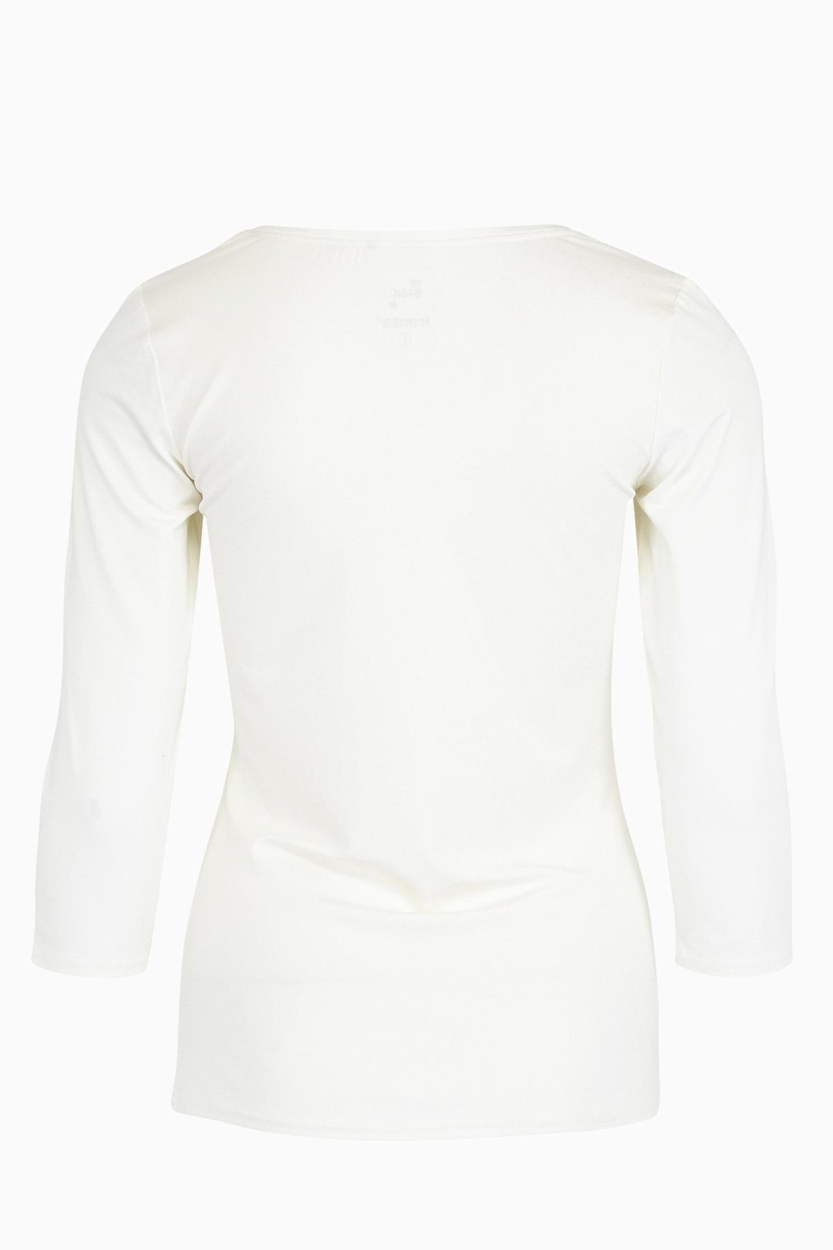 Wollweiß Langarm T-Shirt von Fransa – Shoppen Sie Wollweiß Langarm T-Shirt ab Gr. XS-XXL hier