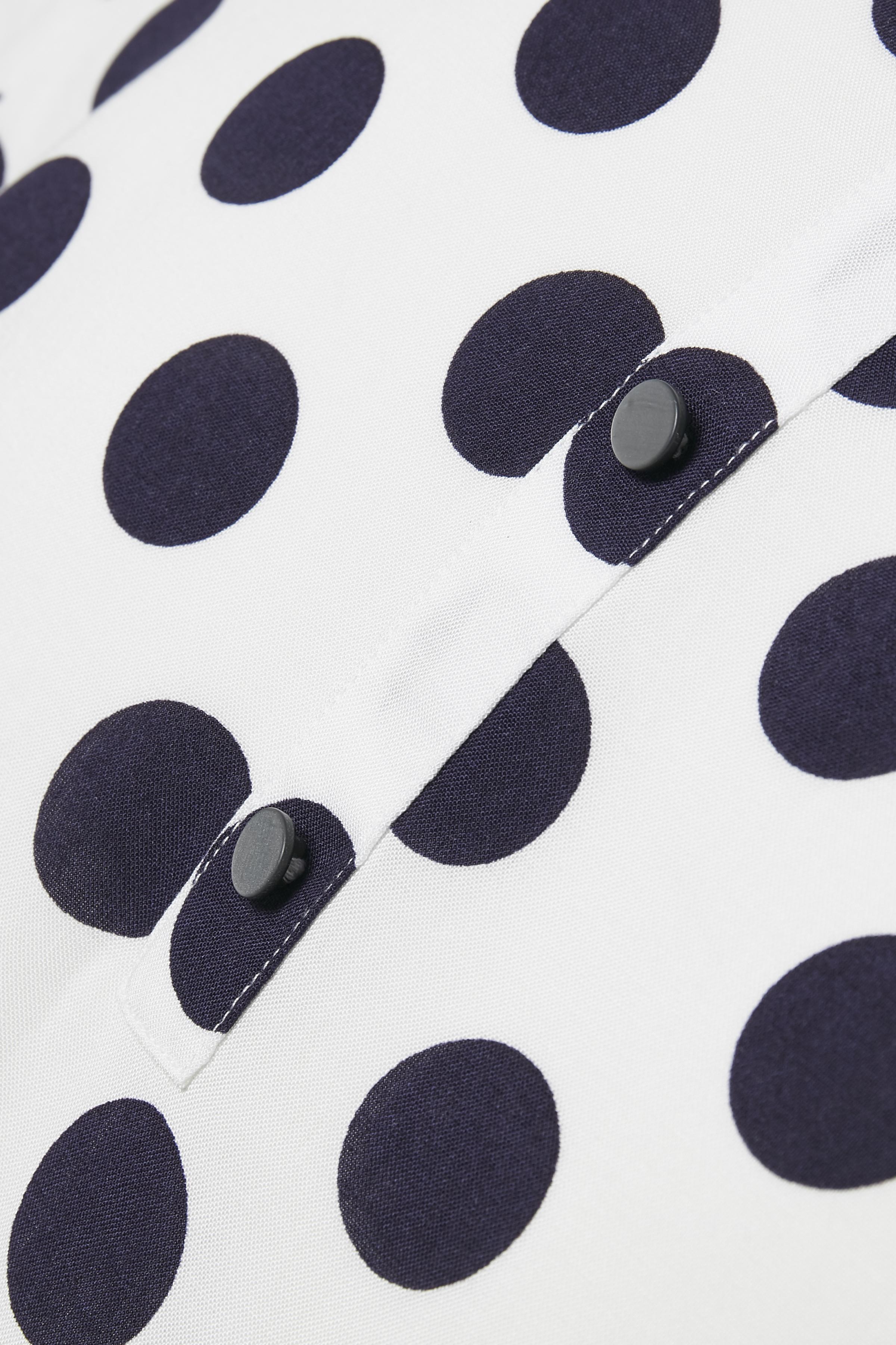Wollweiß/marineblau Kurzarm-Bluse von Fransa – Shoppen Sie Wollweiß/marineblau Kurzarm-Bluse ab Gr. XS-XXL hier