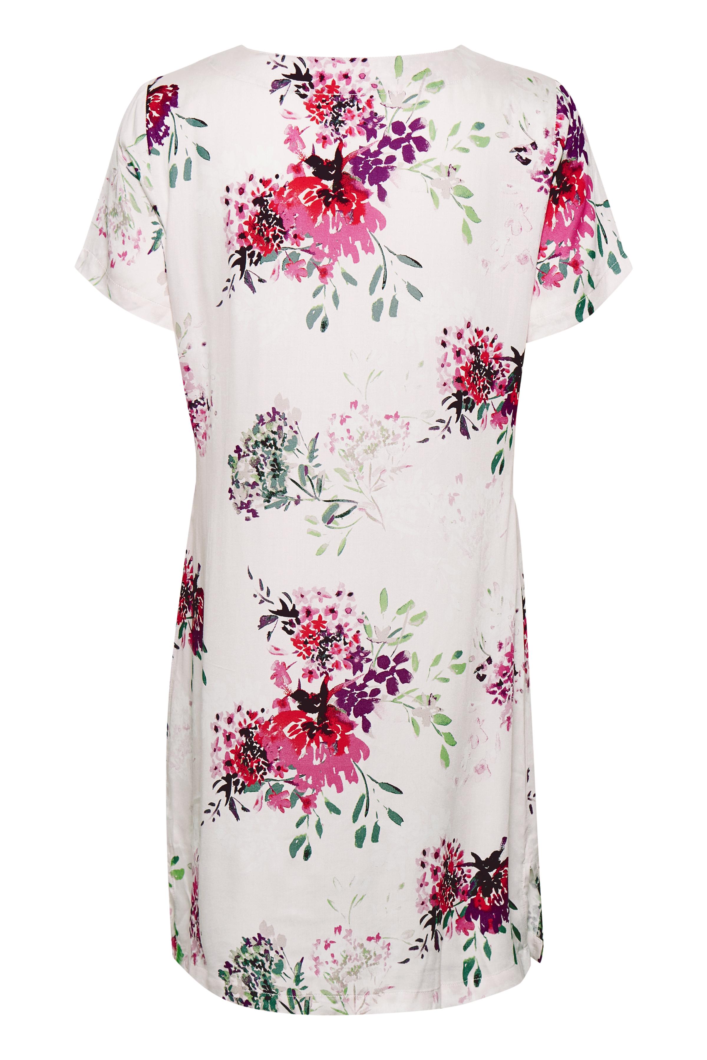 Wollweiß/rosa Tunika von Bon'A Parte – Shoppen Sie Wollweiß/rosa Tunika ab Gr. S-2XL hier