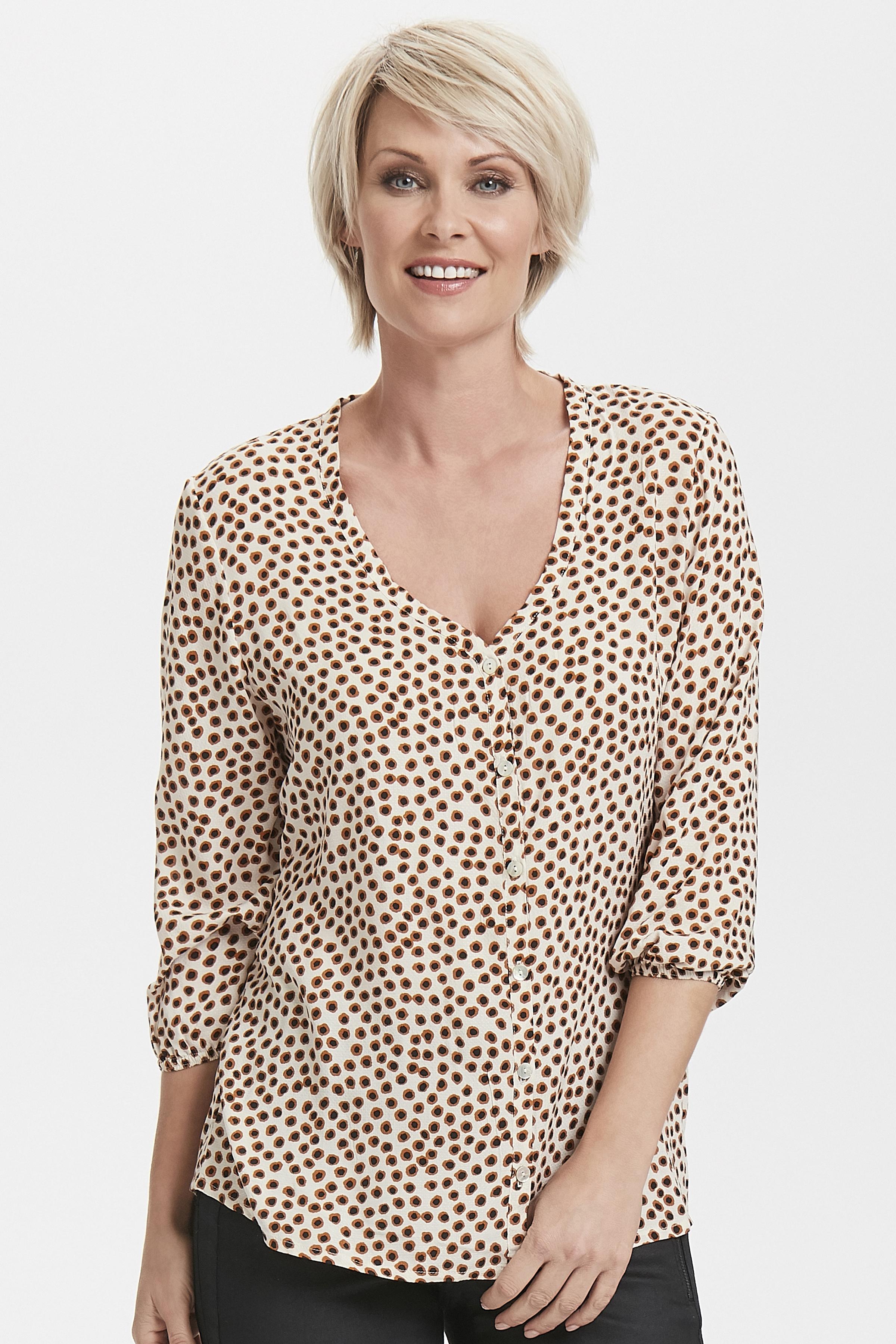 Wollweiß/sand Langarm-Bluse von Cream – Shoppen Sie Wollweiß/sand Langarm-Bluse ab Gr. 34-46 hier