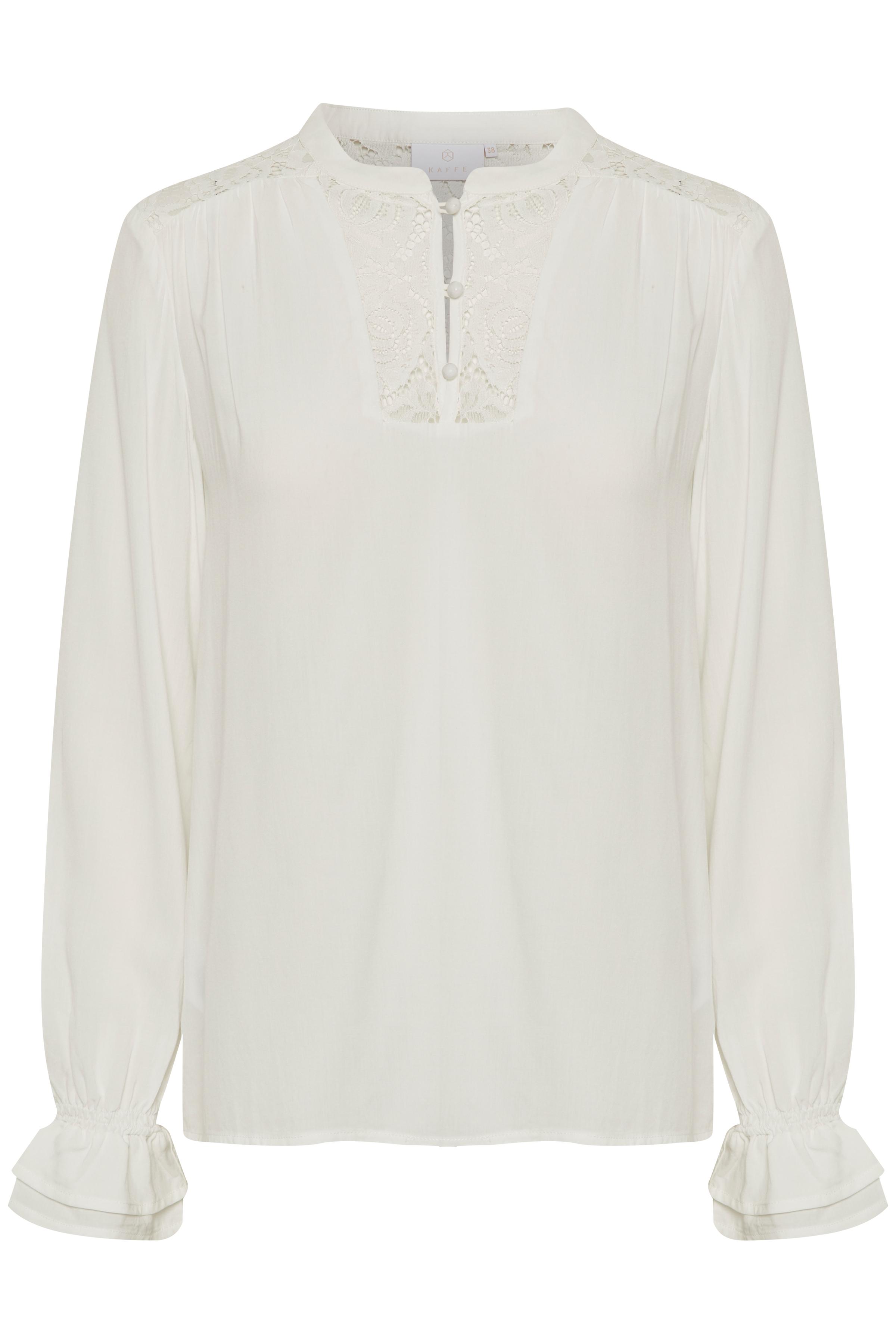 Wollweiss Langarm-Bluse von Kaffe – Shoppen SieWollweiss Langarm-Bluse ab Gr. 34-46 hier