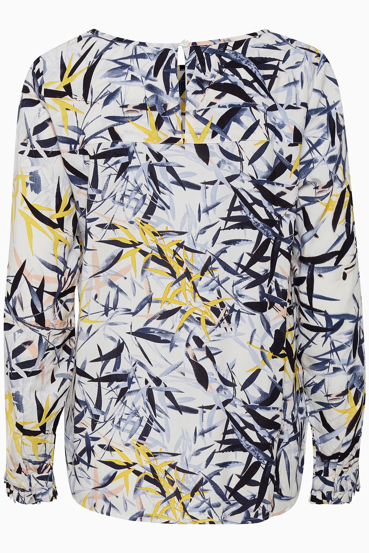 Wollweiss/marineblau Langarm-Bluse von Kaffe – Shoppen SieWollweiss/marineblau Langarm-Bluse ab Gr. 34-46 hier
