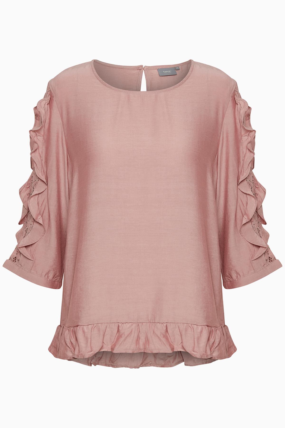Woodrose Langærmet bluse fra b.young – Køb Woodrose Langærmet bluse fra str. 34-46 her
