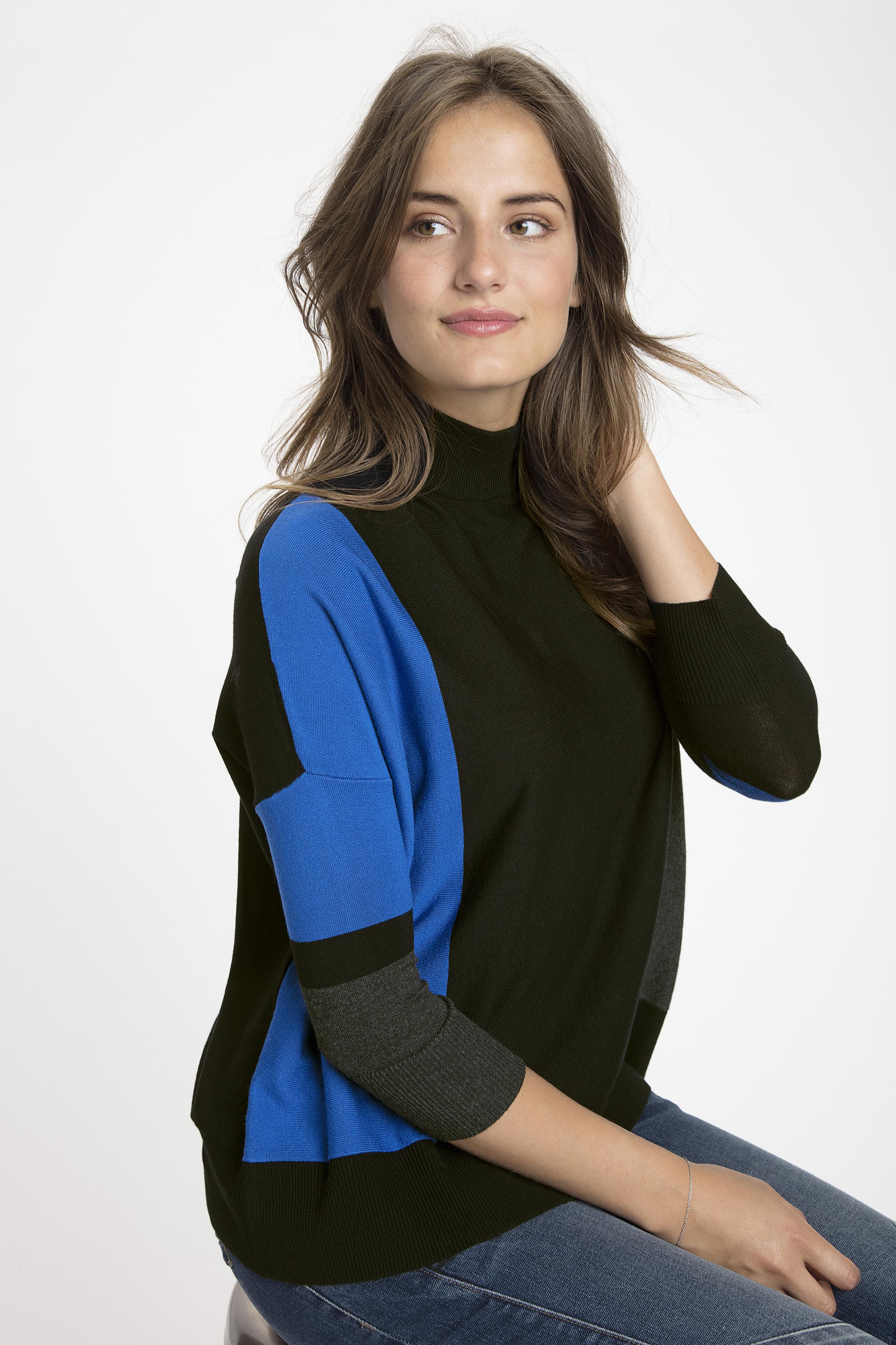 Zwart/blauw