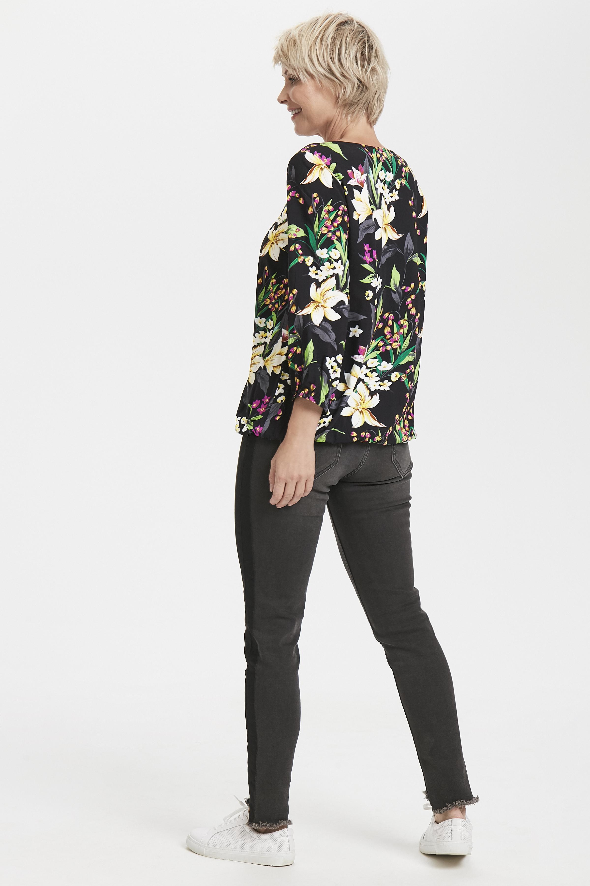 Zwart/cerise Shirt van Fransa – Door Zwart/cerise Shirt van maat. XS-XXL hier