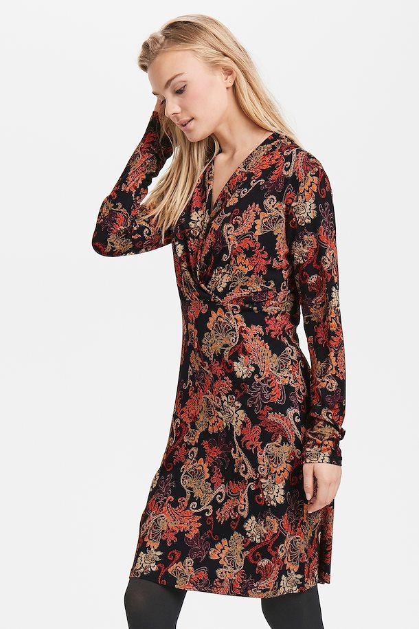 56069320df1539 Zwart dieporanje Gebreide jurk van Cream – Door Zwart dieporanje Gebreide  jurk van maat. XS-XXL hier
