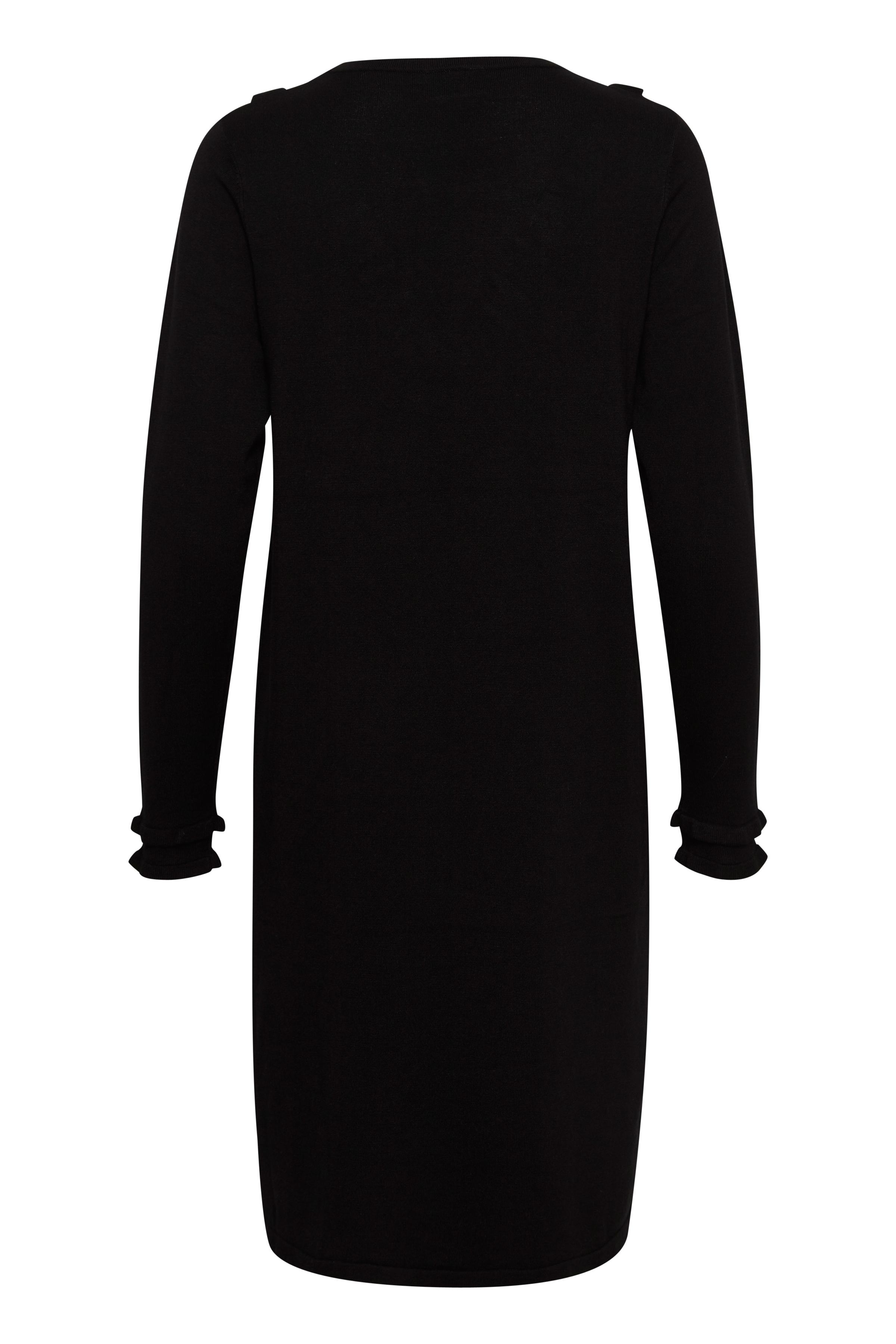 Zwart Gebreide jurk van Kaffe – Door Zwart Gebreide jurk van maat. L-XXL hier