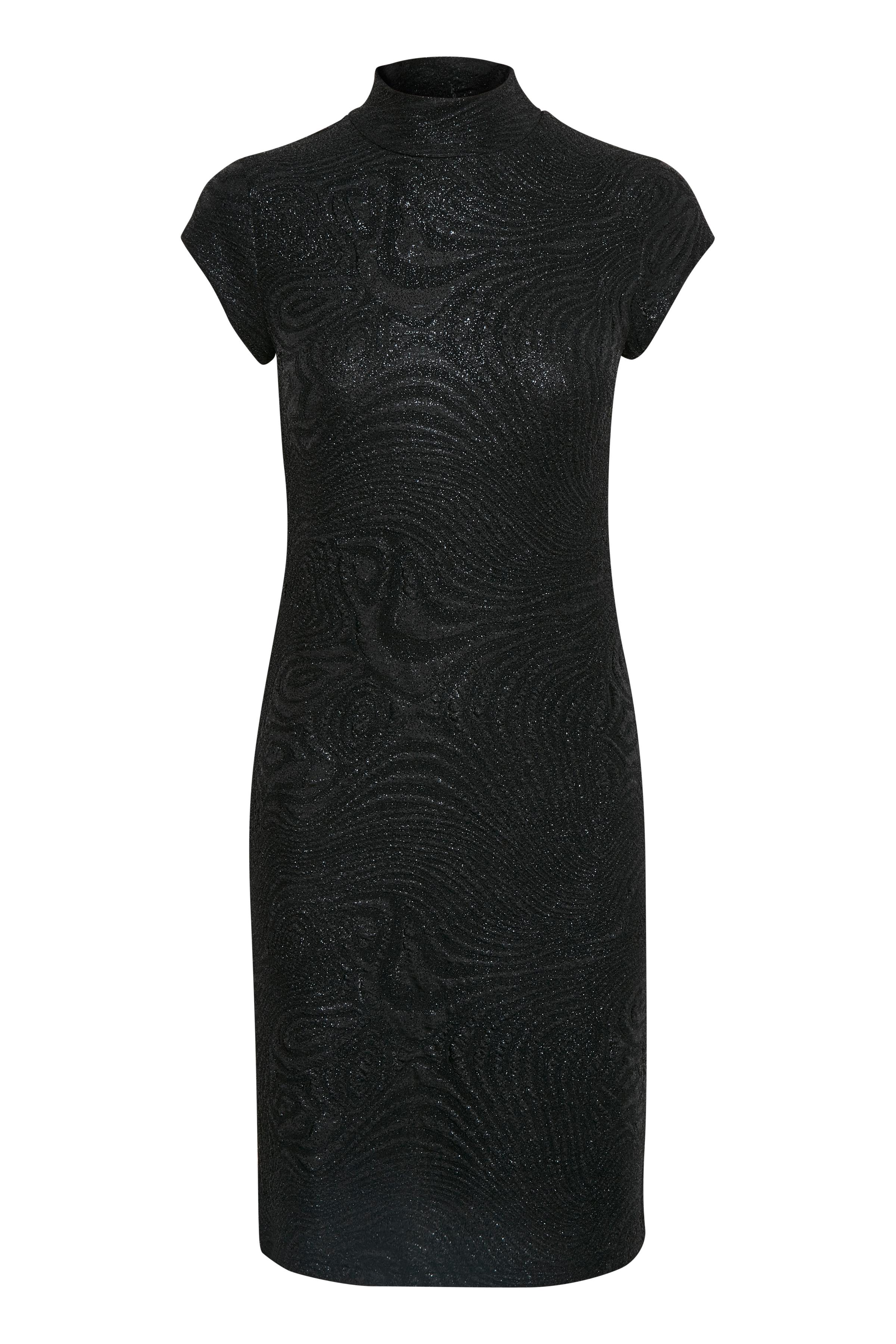 Zwart Gebreide jurk van Kaffe – Door Zwart Gebreide jurk van maat. XS-XXL hier