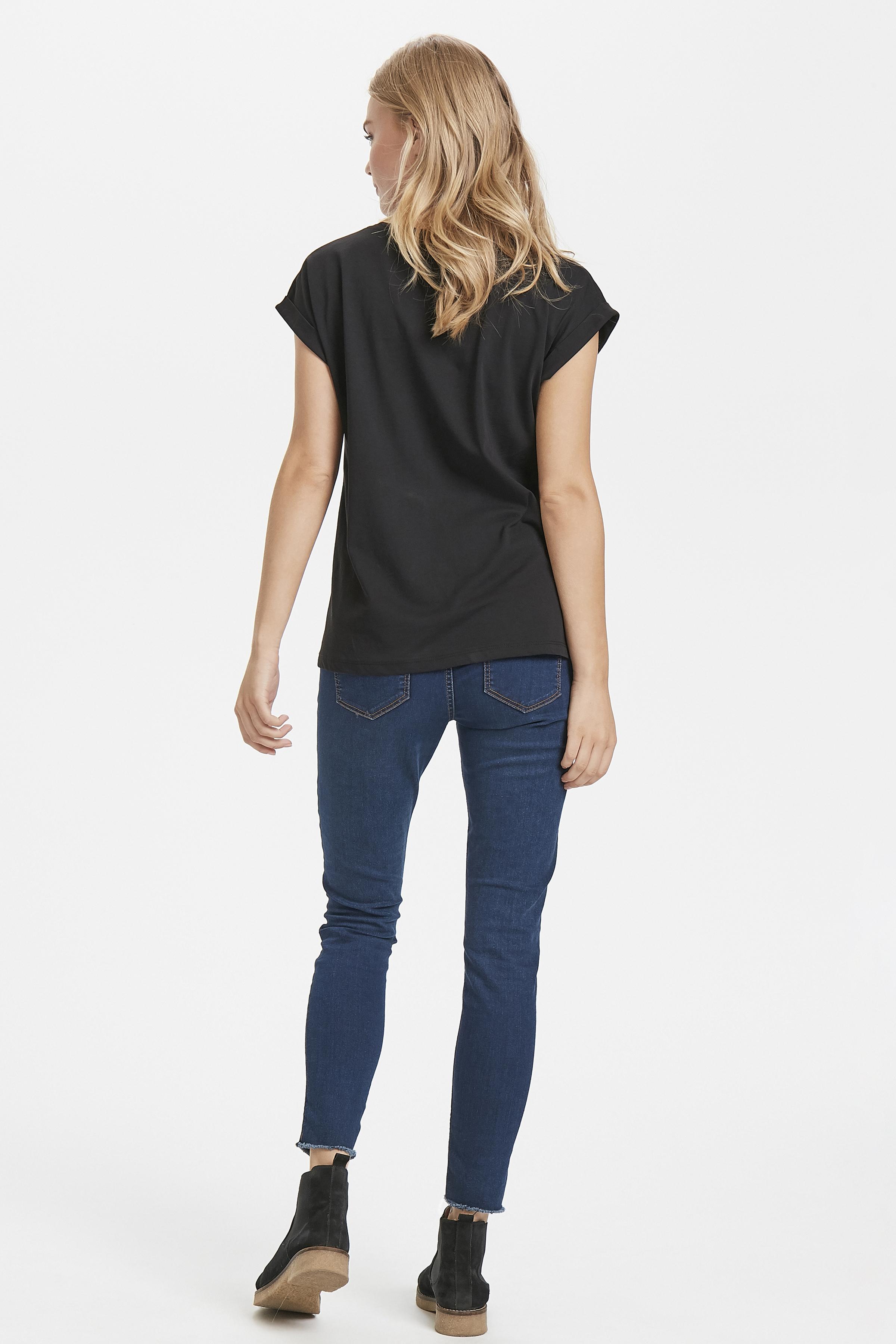 Zwart/goud T-shirt korte mouw van Kaffe – Door Zwart/goud T-shirt korte mouw van maat. XS-XXL hier