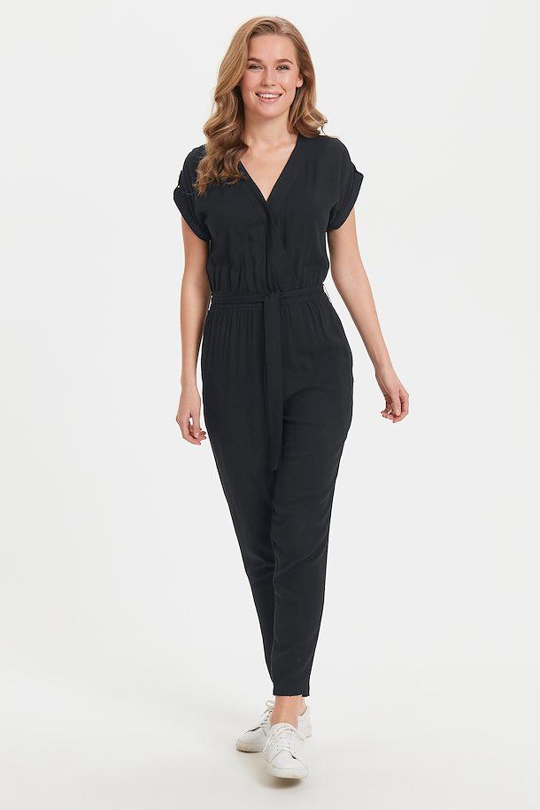 zwart jumpsuit van bon'a parte – door zwart jumpsuit van maat. s-2xl