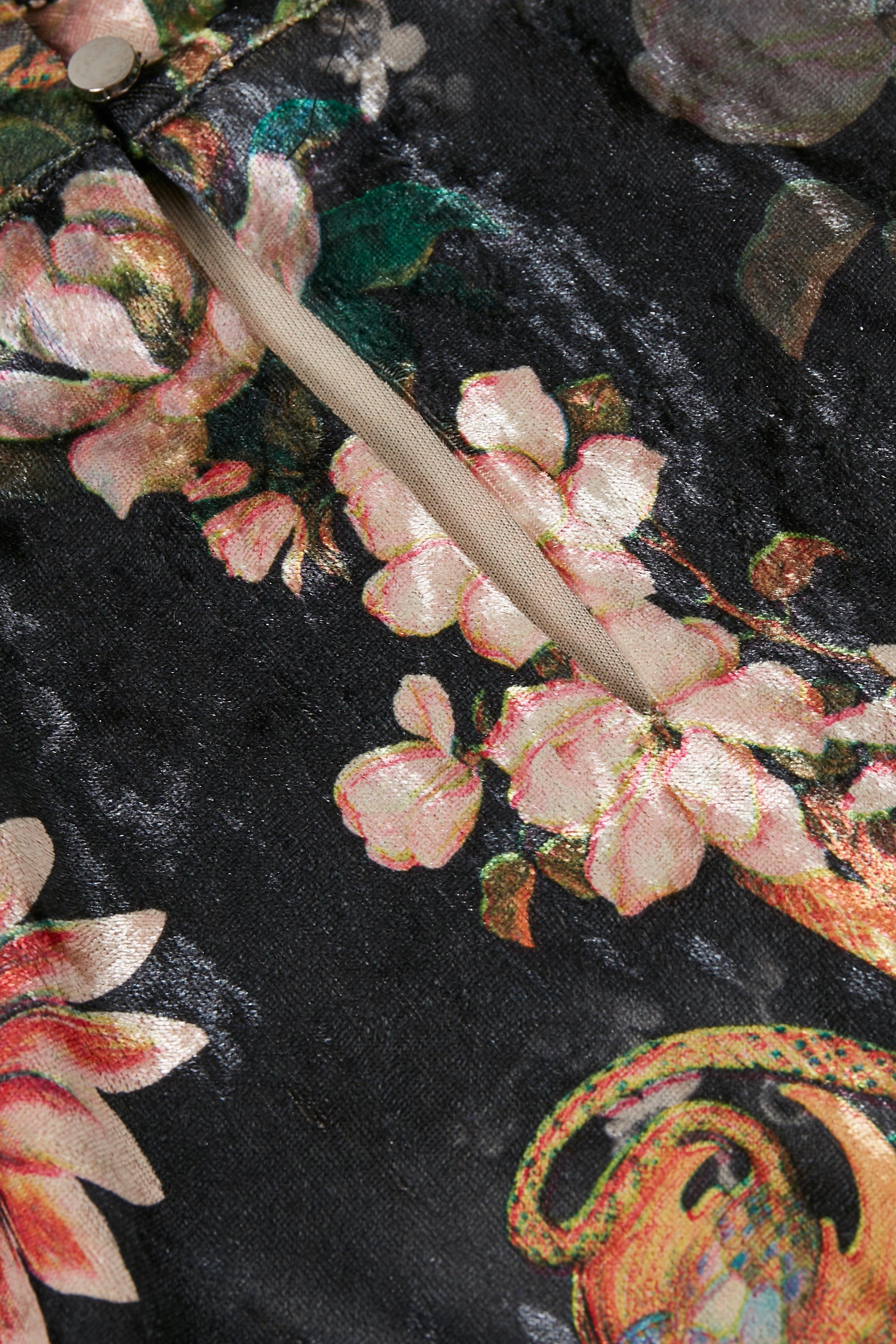 Zwart/roze Blouse met lange mouwen van Kaffe – Door Zwart/roze Blouse met lange mouwen van maat. XS-XXL hier