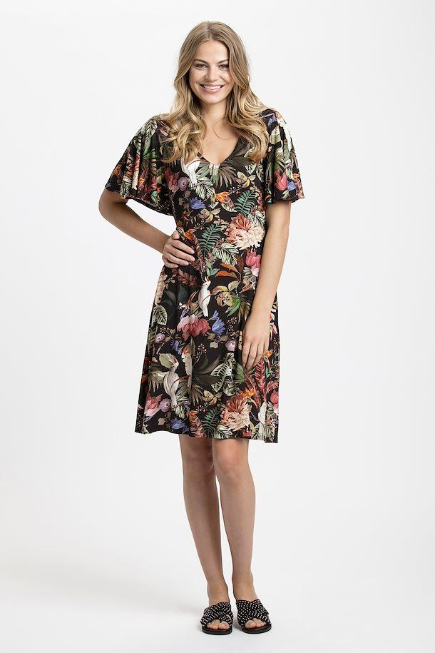 04352a191d5eb6 Zwart roze Gebreide jurk van Cream – Door Zwart roze Gebreide jurk van maat.  XS-XXL hier