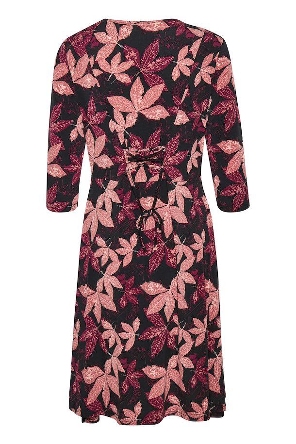260de0b69e4f20 Zwart roze Gebreide jurk van b.young – Door Zwart roze Gebreide jurk van  maat.