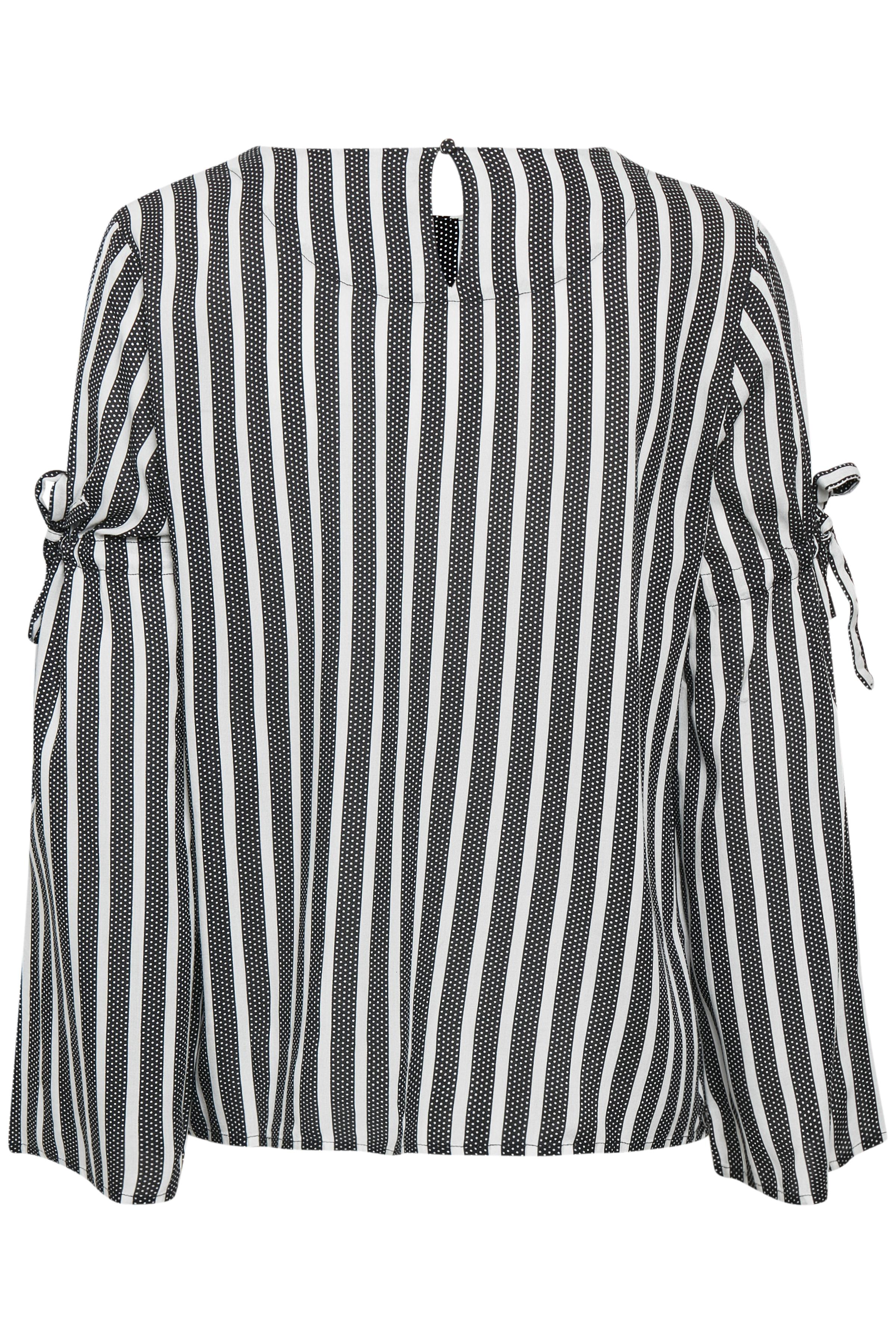 Zwart/wit Blouse met korte mouwen van Fransa – Door Zwart/wit Blouse met korte mouwen van maat. XS-XXL hier