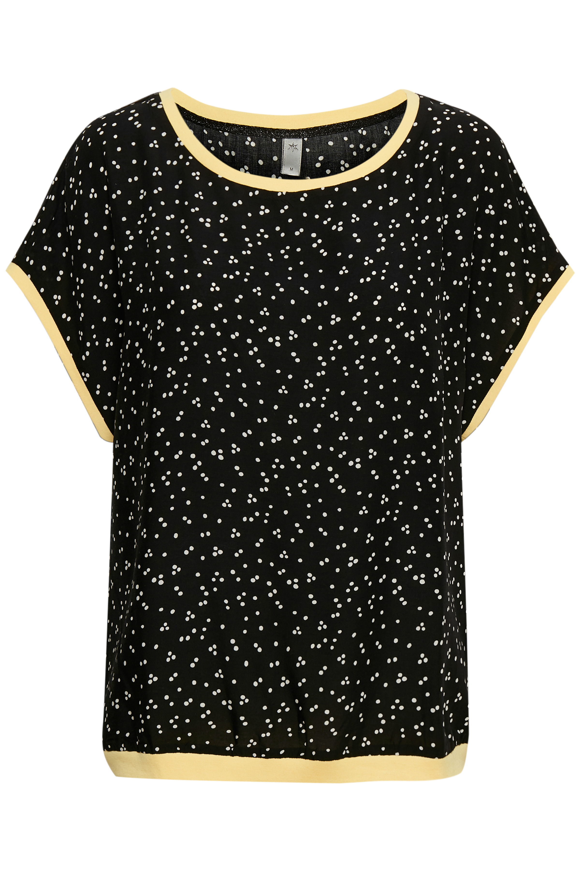 Culture Dame T-shirt korte mouw - Zwart/wit